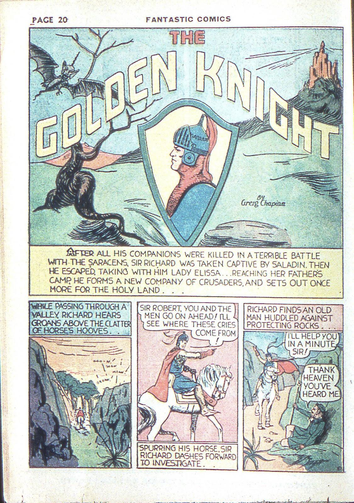 Read online Fantastic Comics comic -  Issue #3 - 23