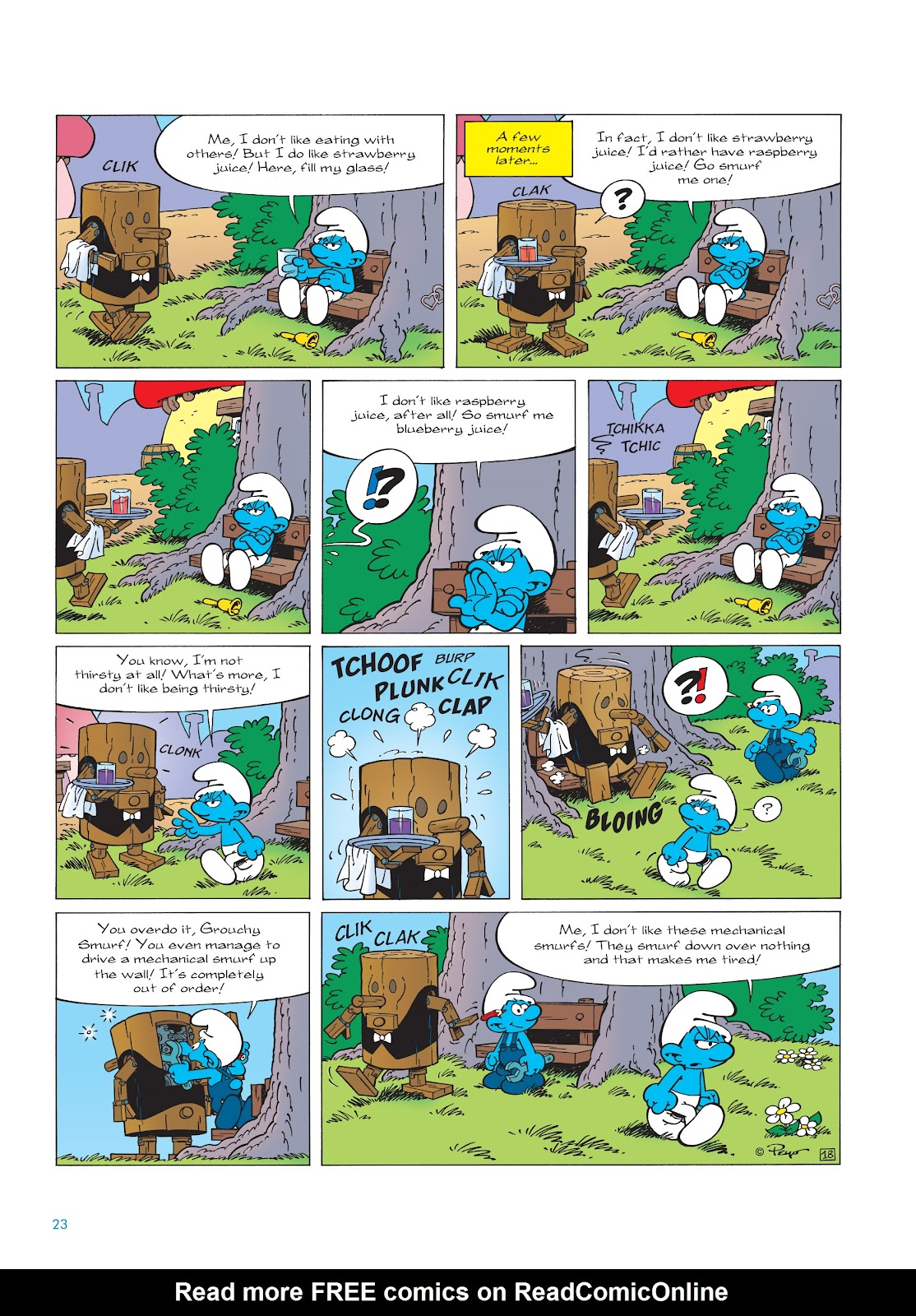 Read online The Smurfs comic -  Issue #23 - 23