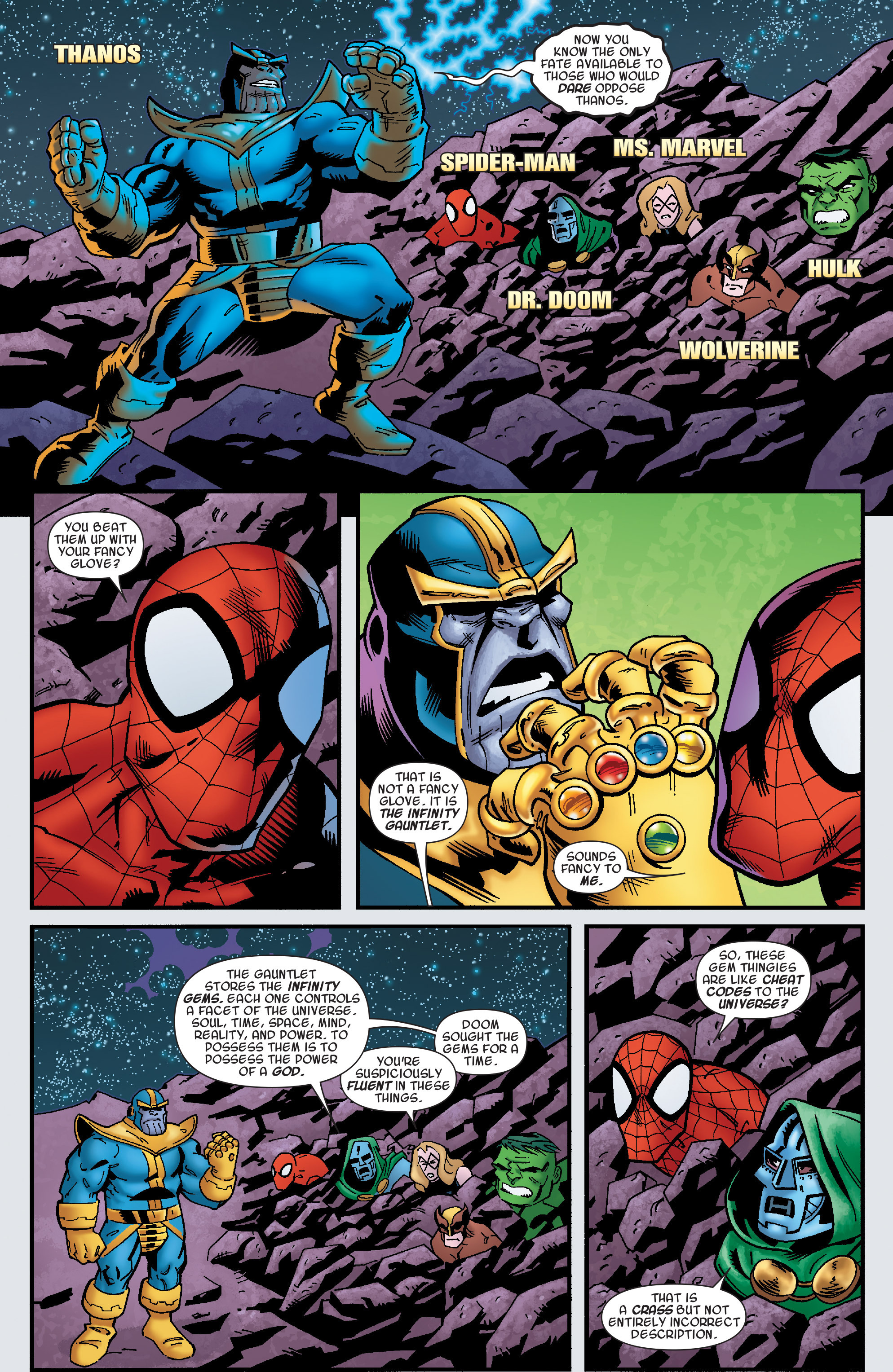 Read online Avengers & the Infinity Gauntlet comic -  Issue #4 - 3