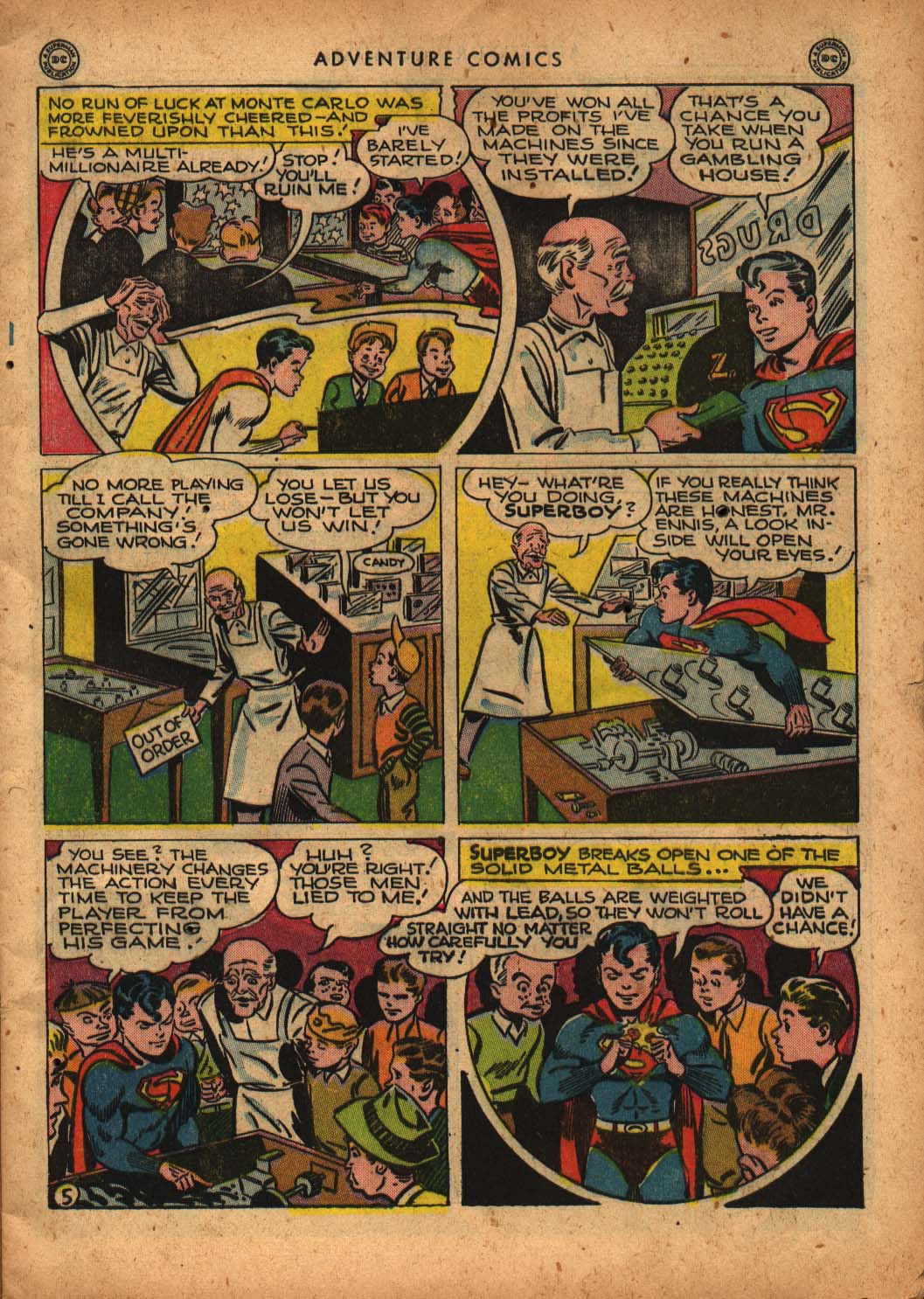 Read online Adventure Comics (1938) comic -  Issue #109 - 7