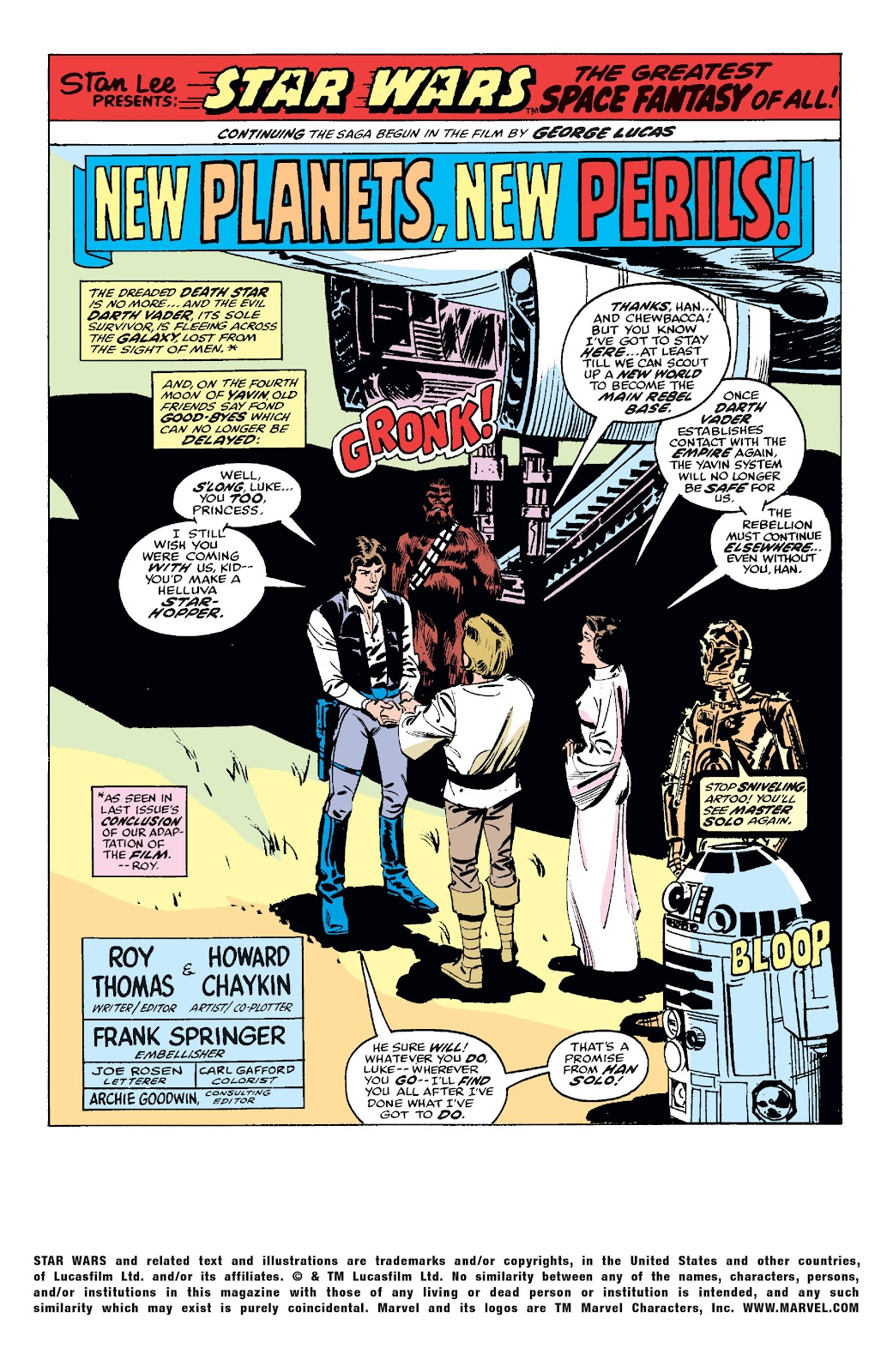 Read online Star Wars Legends: The Original Marvel Years - Epic Collection comic -  Issue # TPB 1 (Part 2) - 18