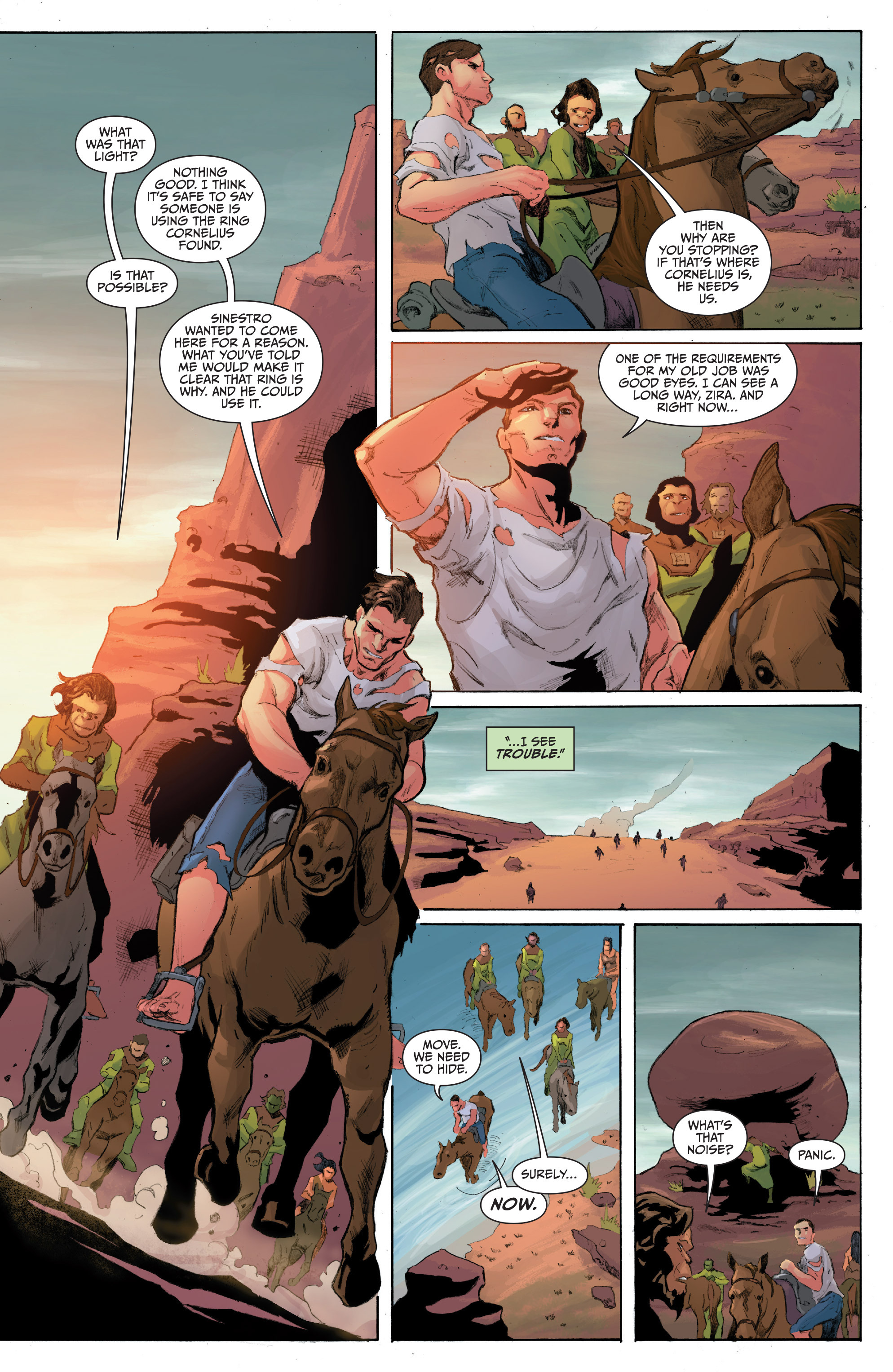 Read online Planet of the Apes/Green Lantern comic -  Issue #4 - 9