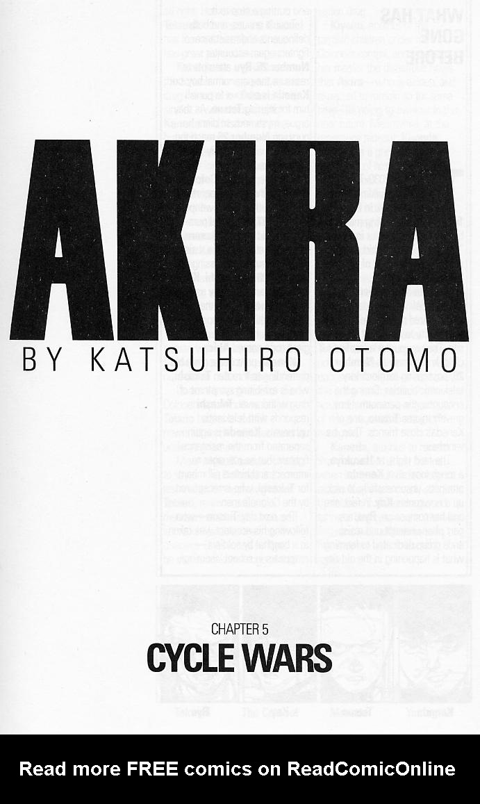 Read online Akira comic -  Issue #5 - 3