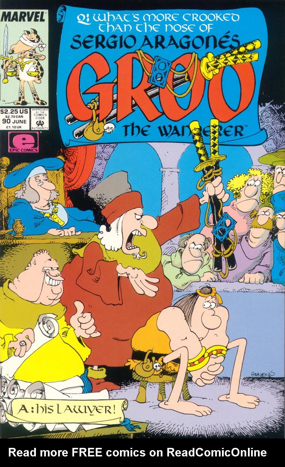 Read online Sergio Aragonés Groo the Wanderer comic -  Issue #90 - 1