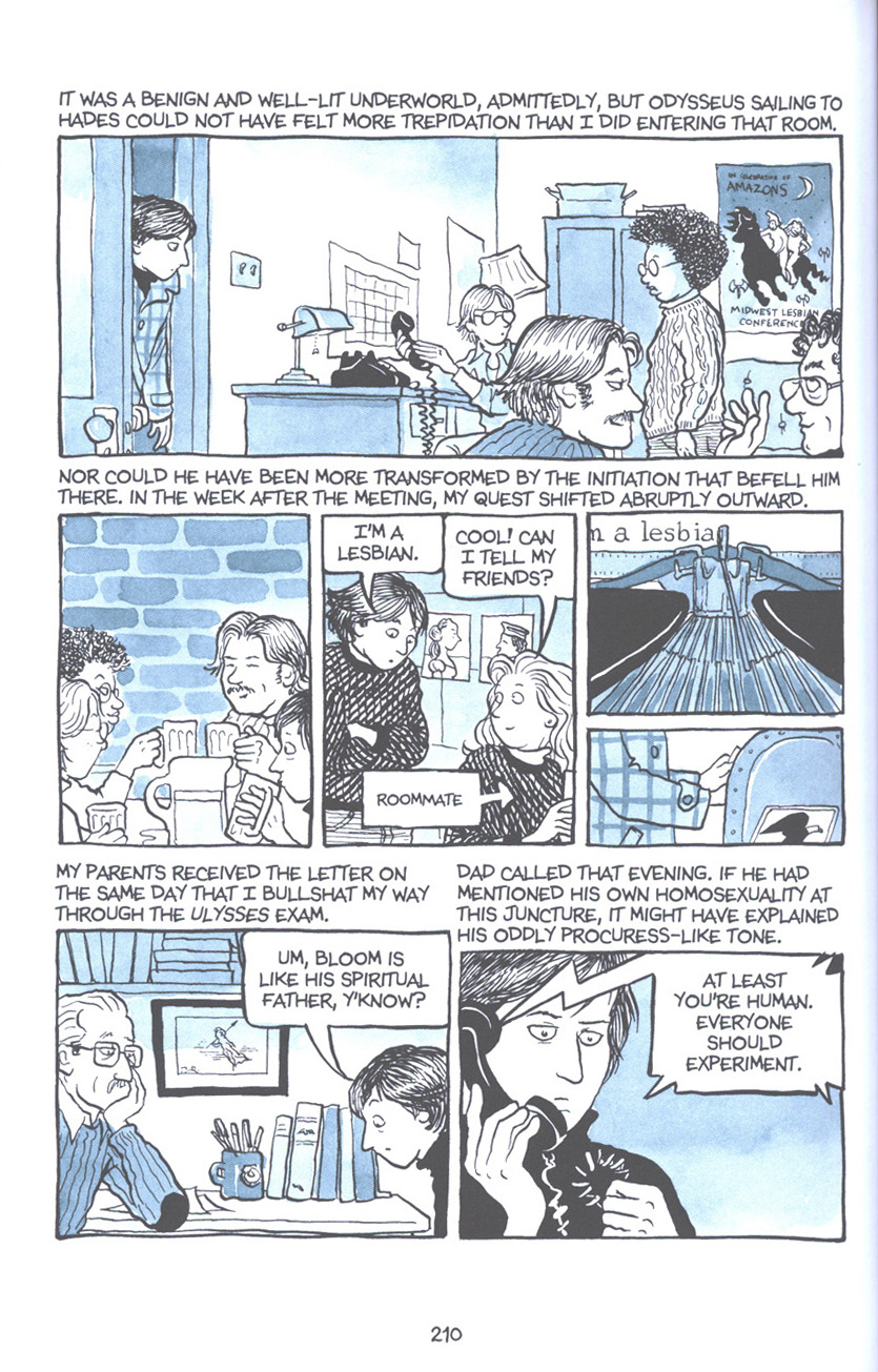 Read online Fun Home: A Family Tragicomic comic -  Issue # TPB - 216