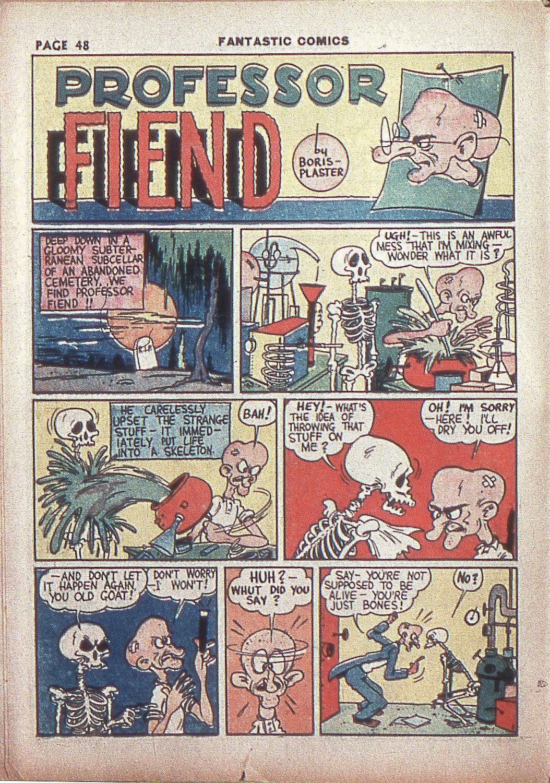 Read online Fantastic Comics comic -  Issue #4 - 49