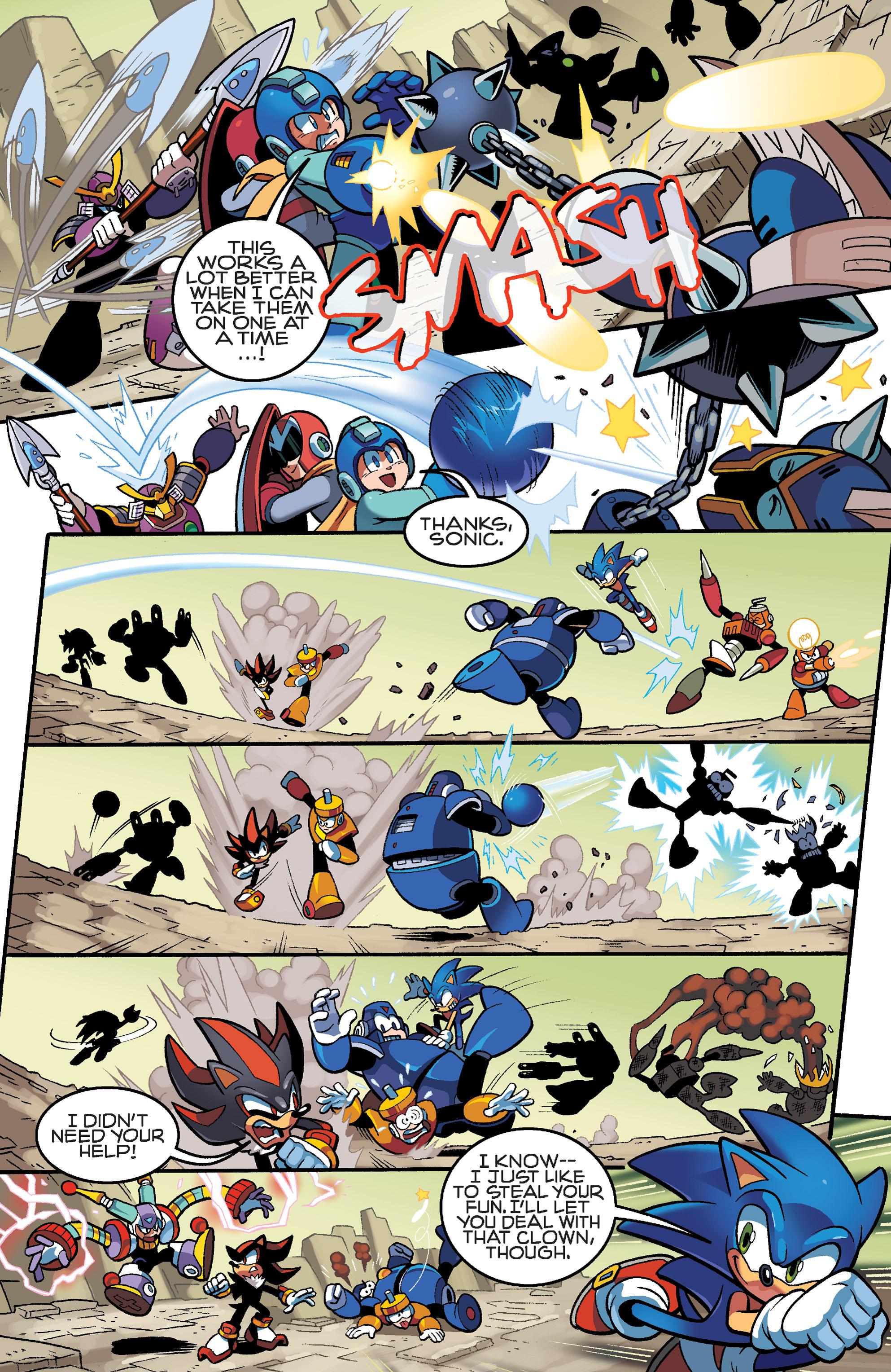 Read online Sonic Mega Man Worlds Collide comic -  Issue # Vol 3 - 18