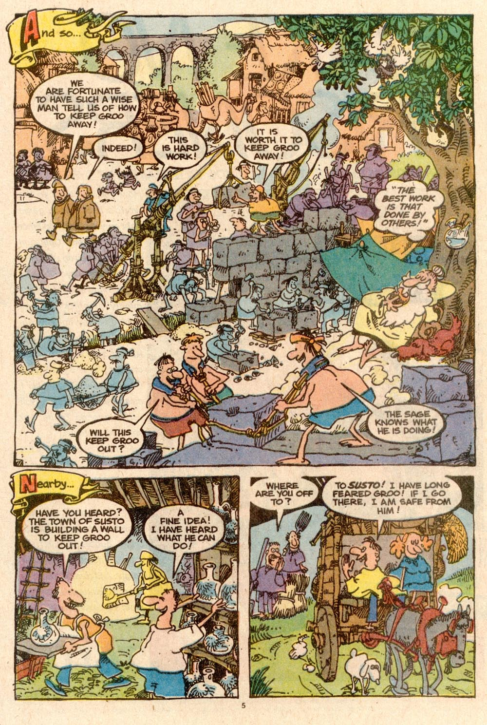 Read online Sergio Aragonés Groo the Wanderer comic -  Issue #59 - 5