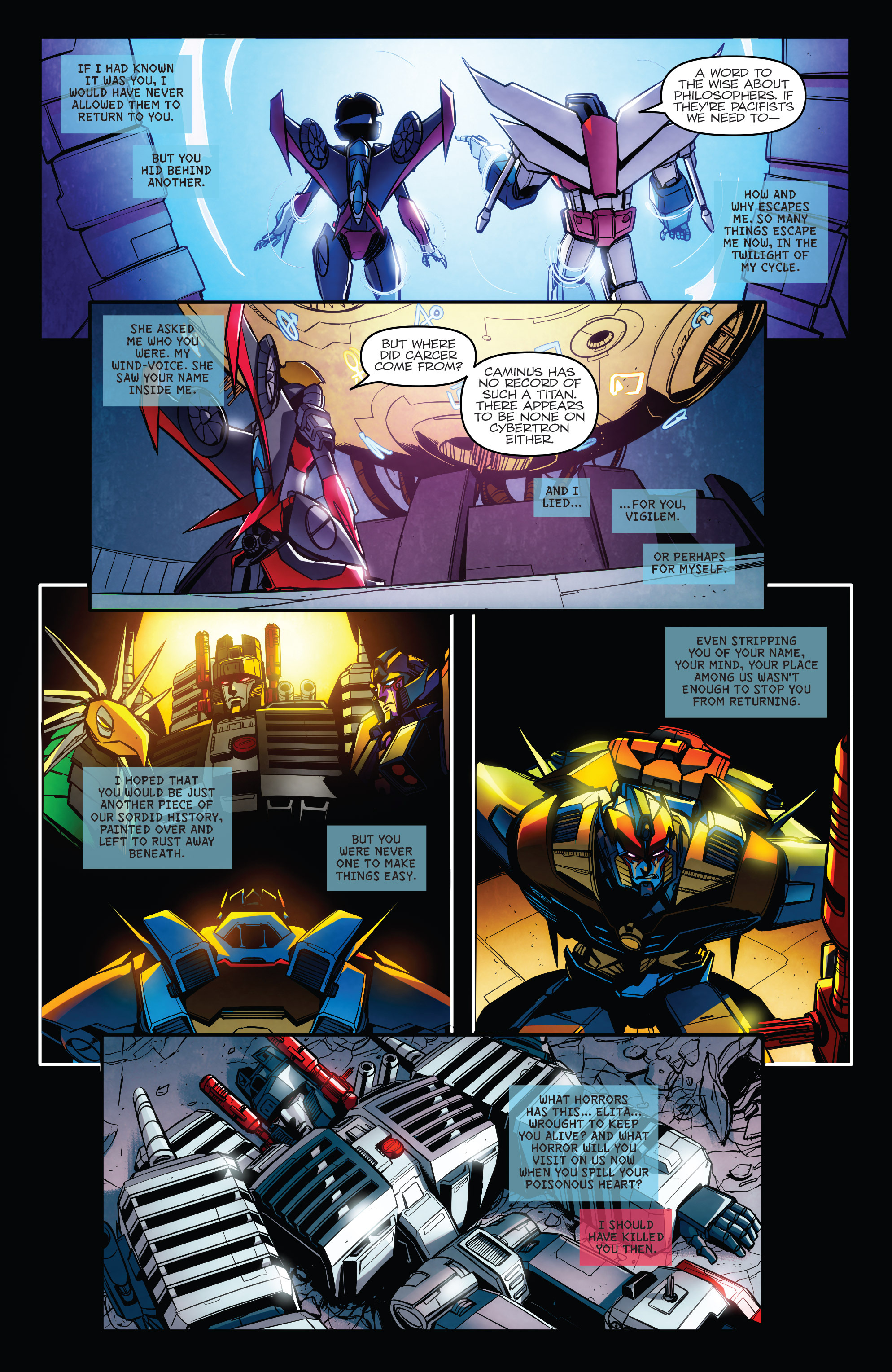 Read online Transformers: Till All Are One comic -  Issue #8 - 4