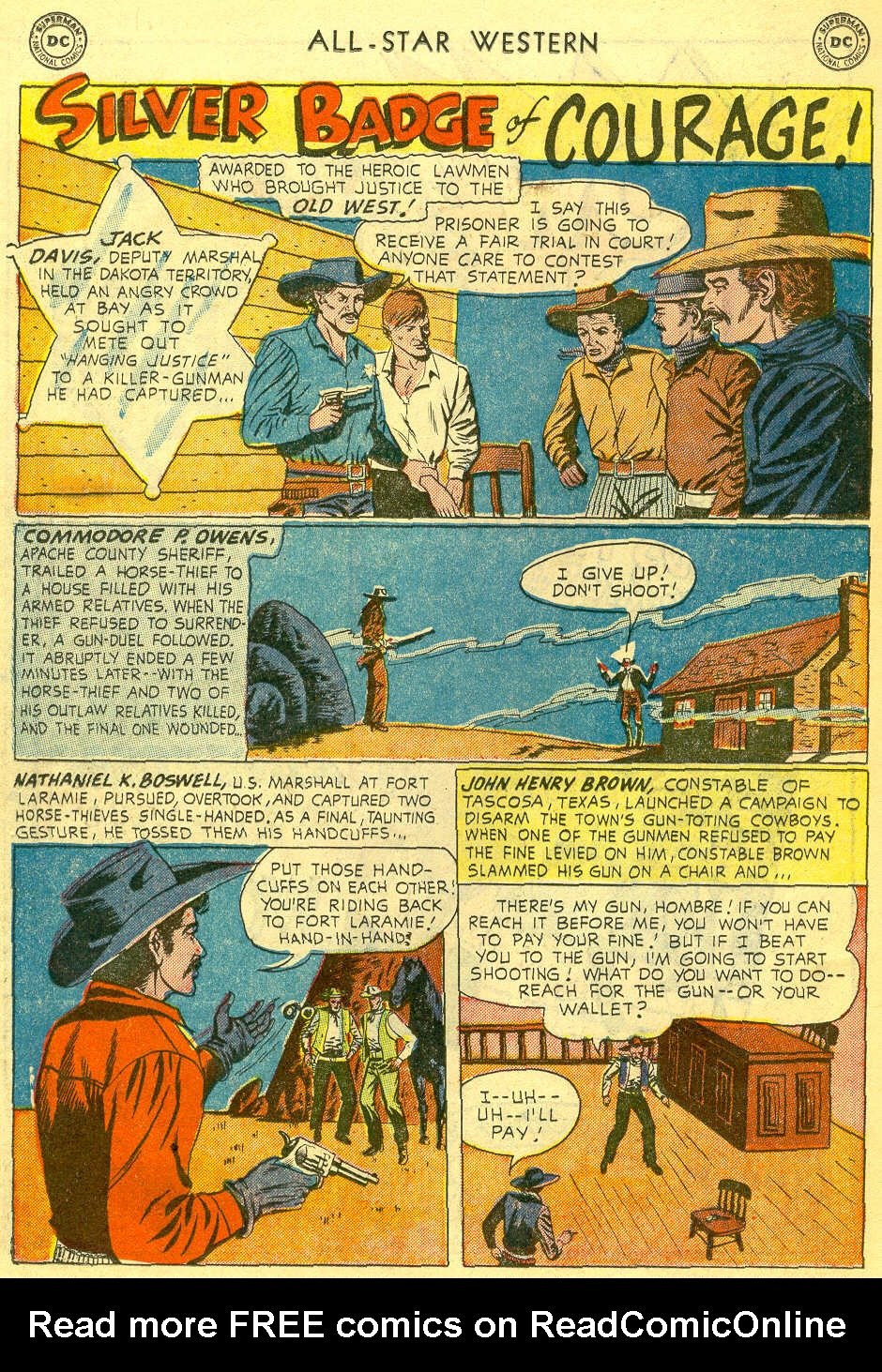 Read online All-Star Western (1951) comic -  Issue #78 - 18