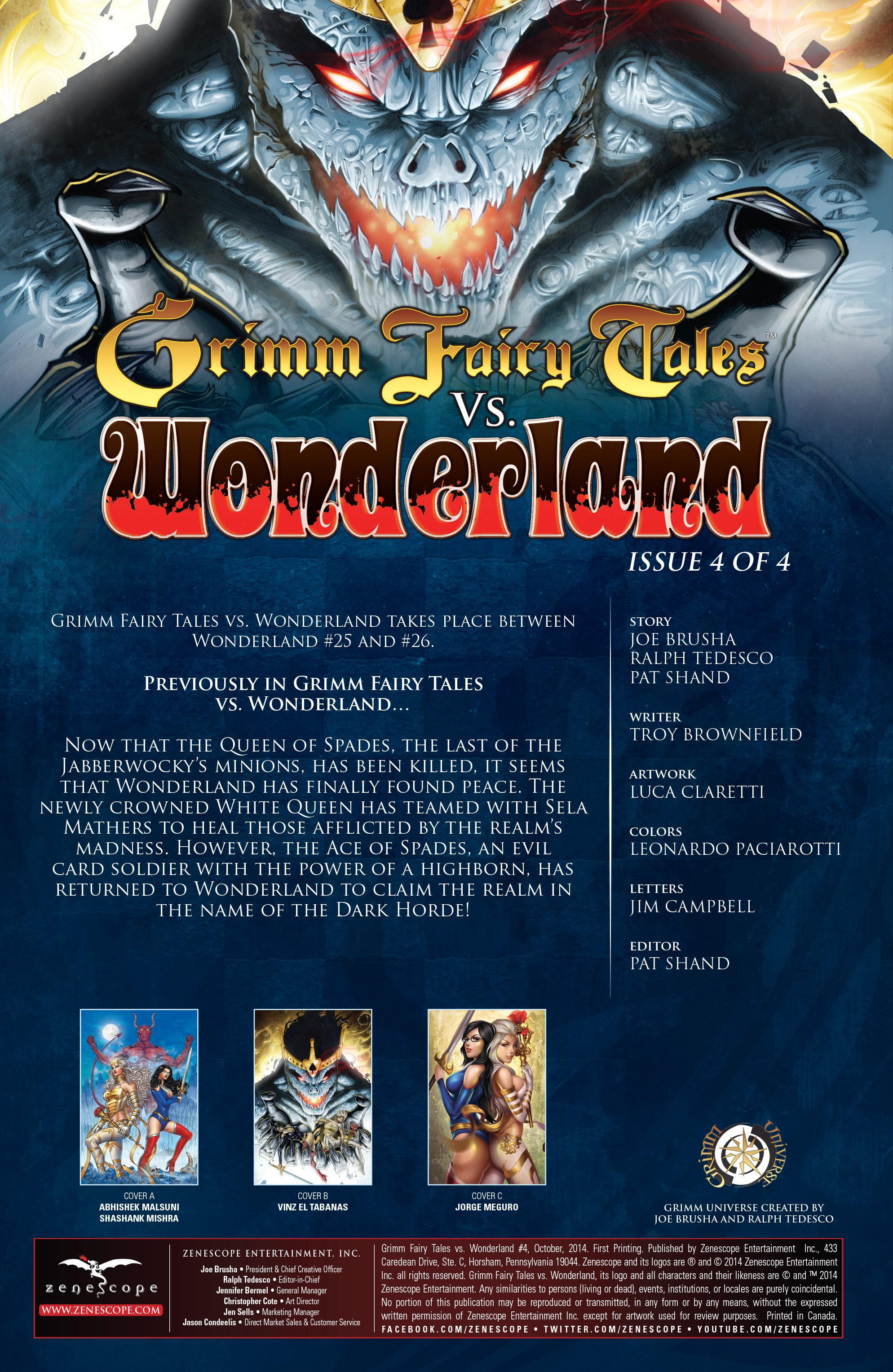 Read online Grimm Fairy Tales vs. Wonderland comic -  Issue #4 - 3