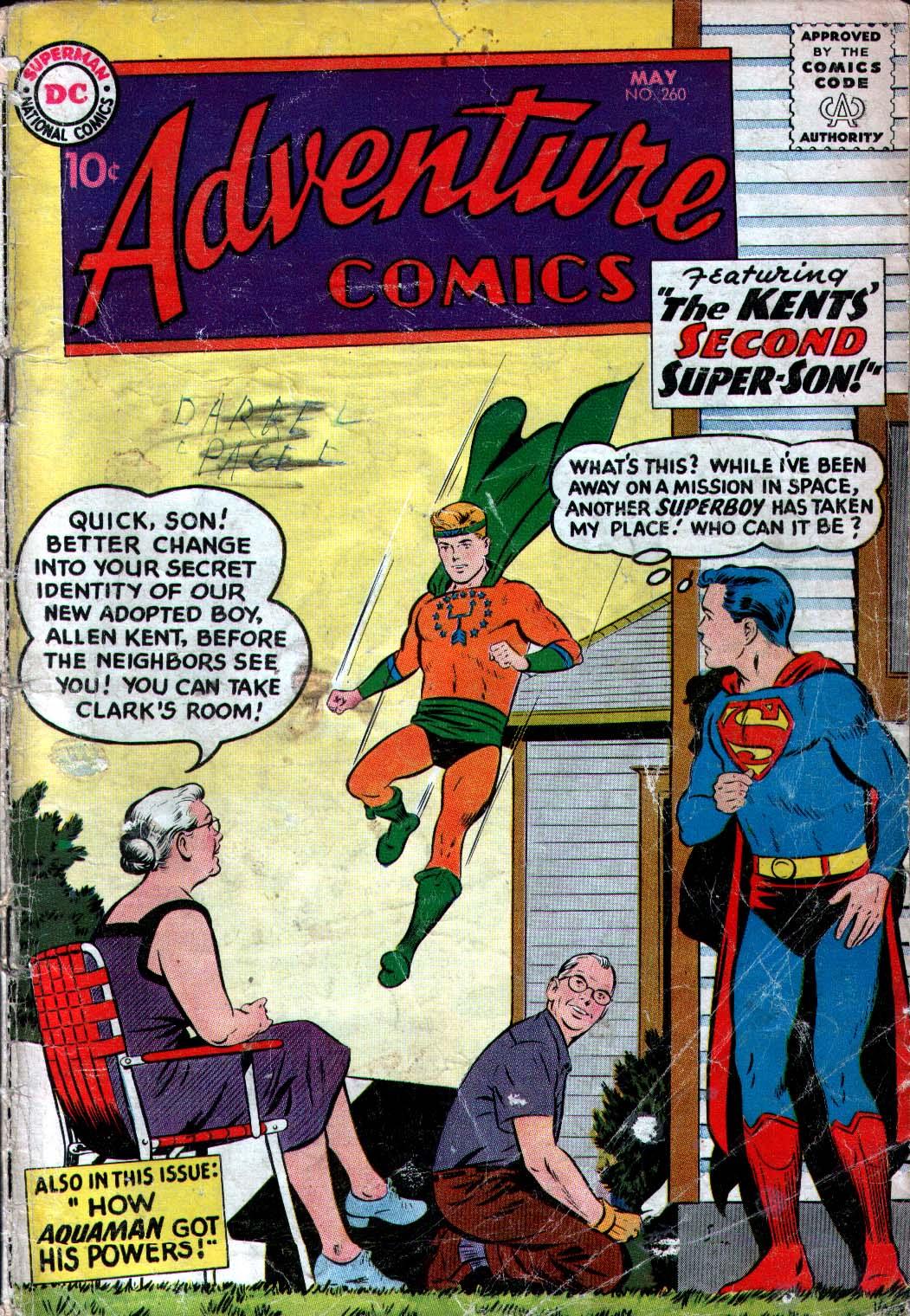 Read online Adventure Comics (1938) comic -  Issue #260 - 1