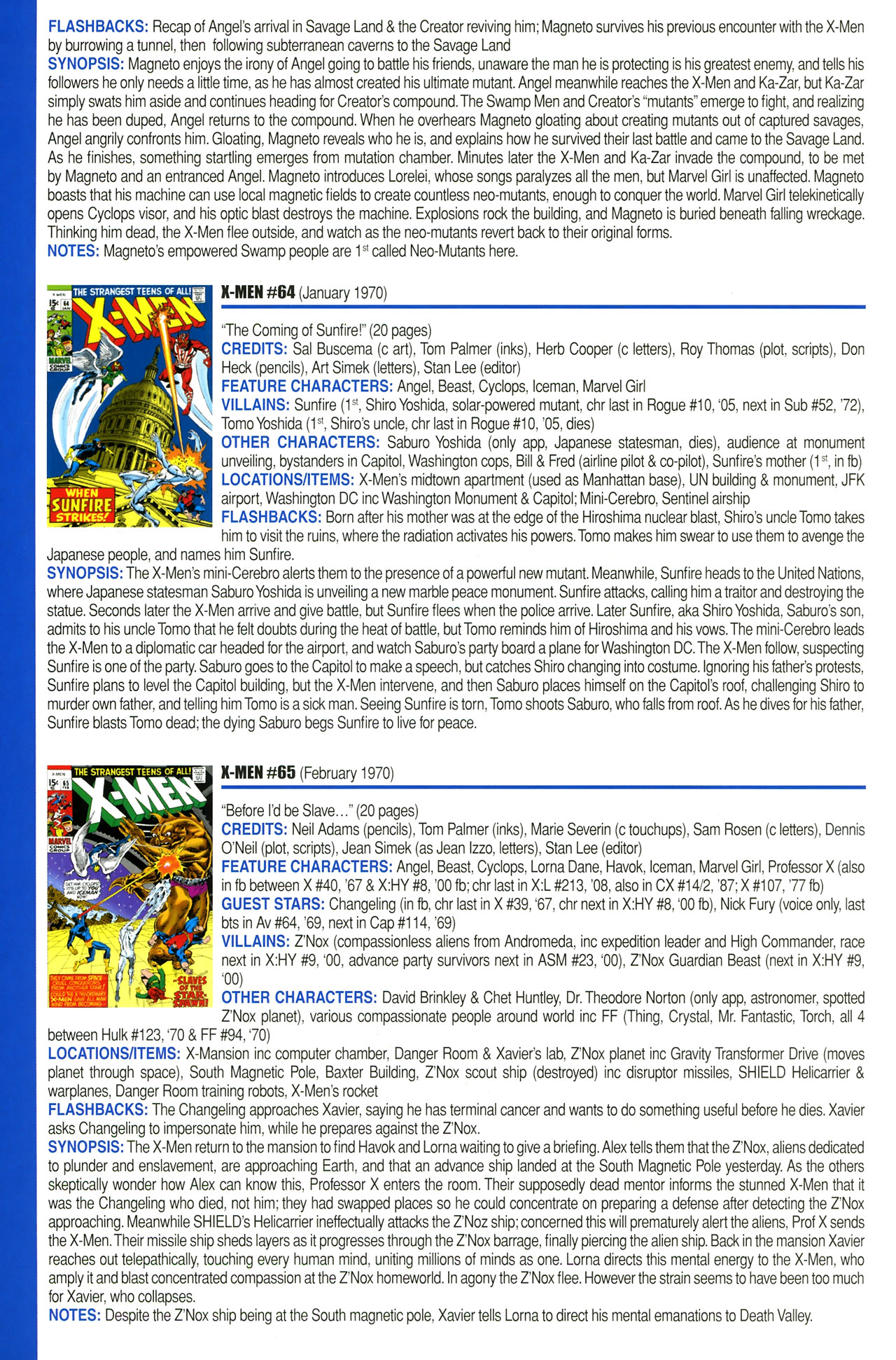 Read online Official Index to the Marvel Universe comic -  Issue #2 - 52