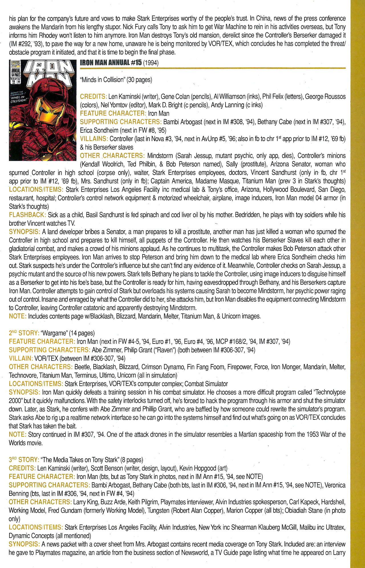 Read online Official Index to the Marvel Universe comic -  Issue #9 - 27