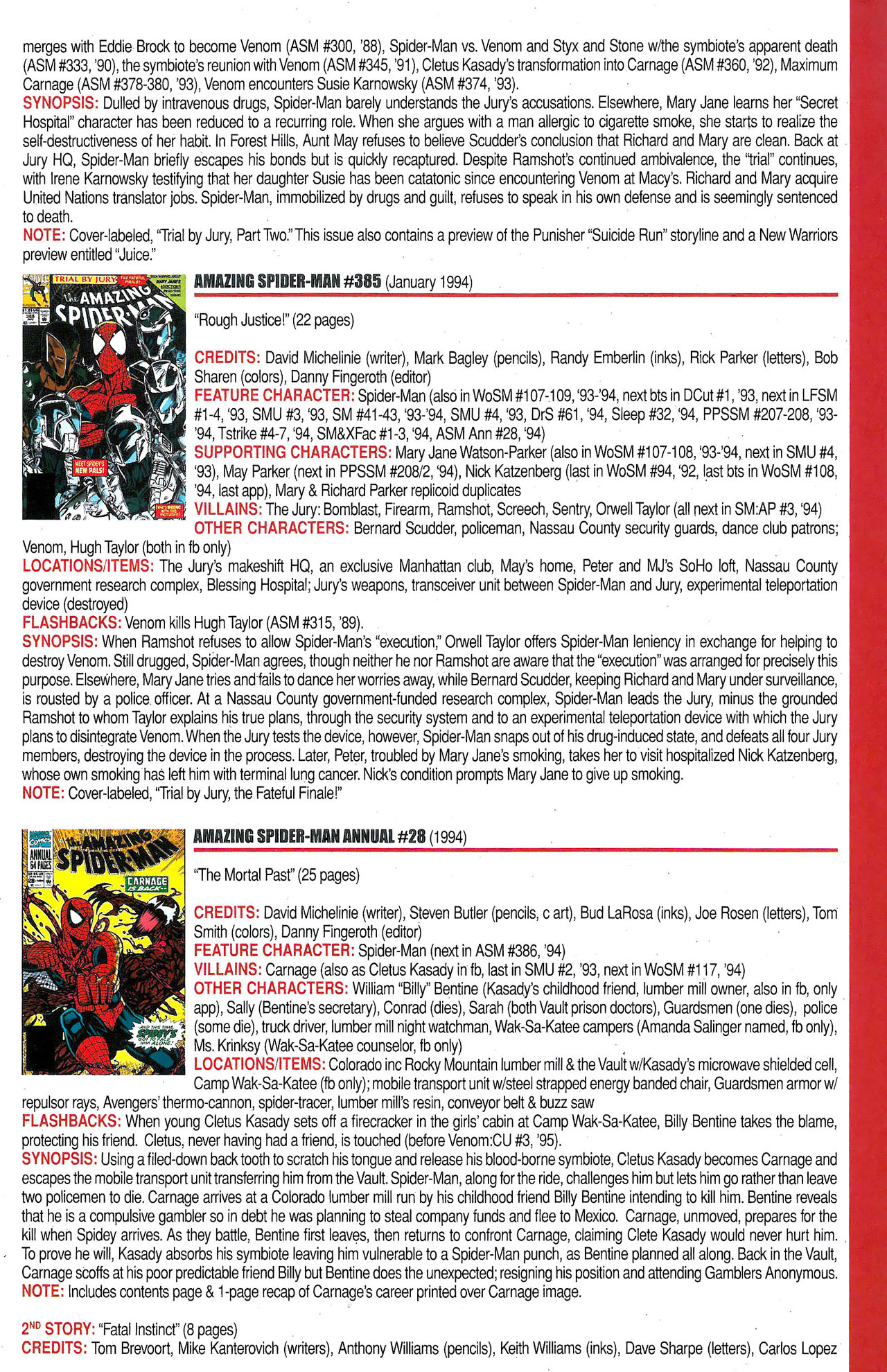 Read online Official Index to the Marvel Universe comic -  Issue #9 - 13