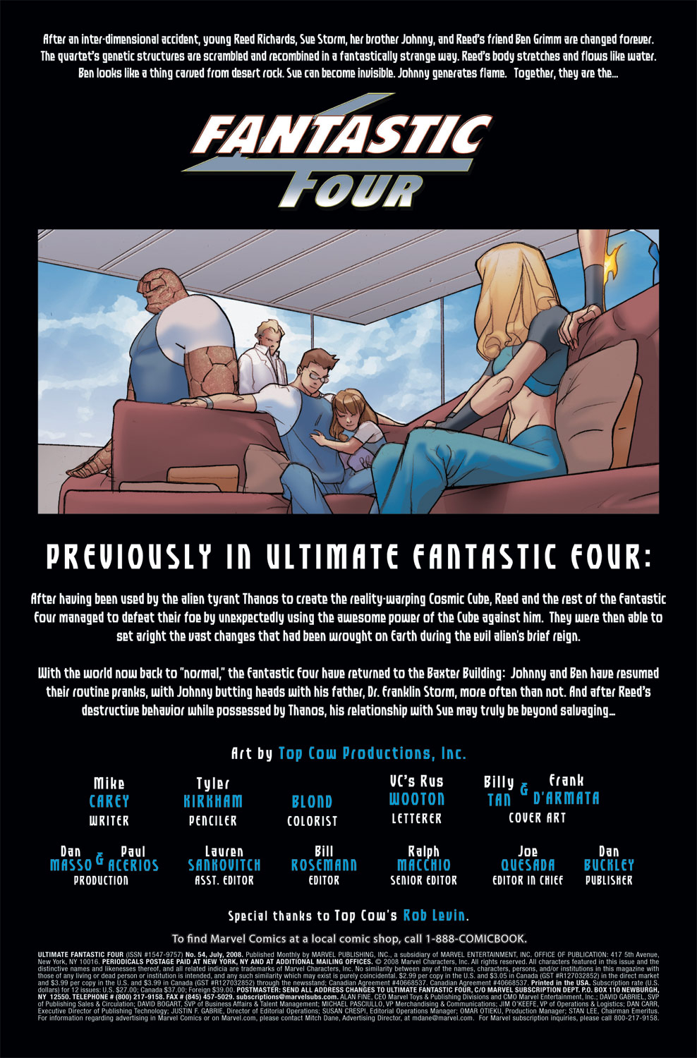 Read online Ultimate Fantastic Four (2004) comic -  Issue #54 - 2