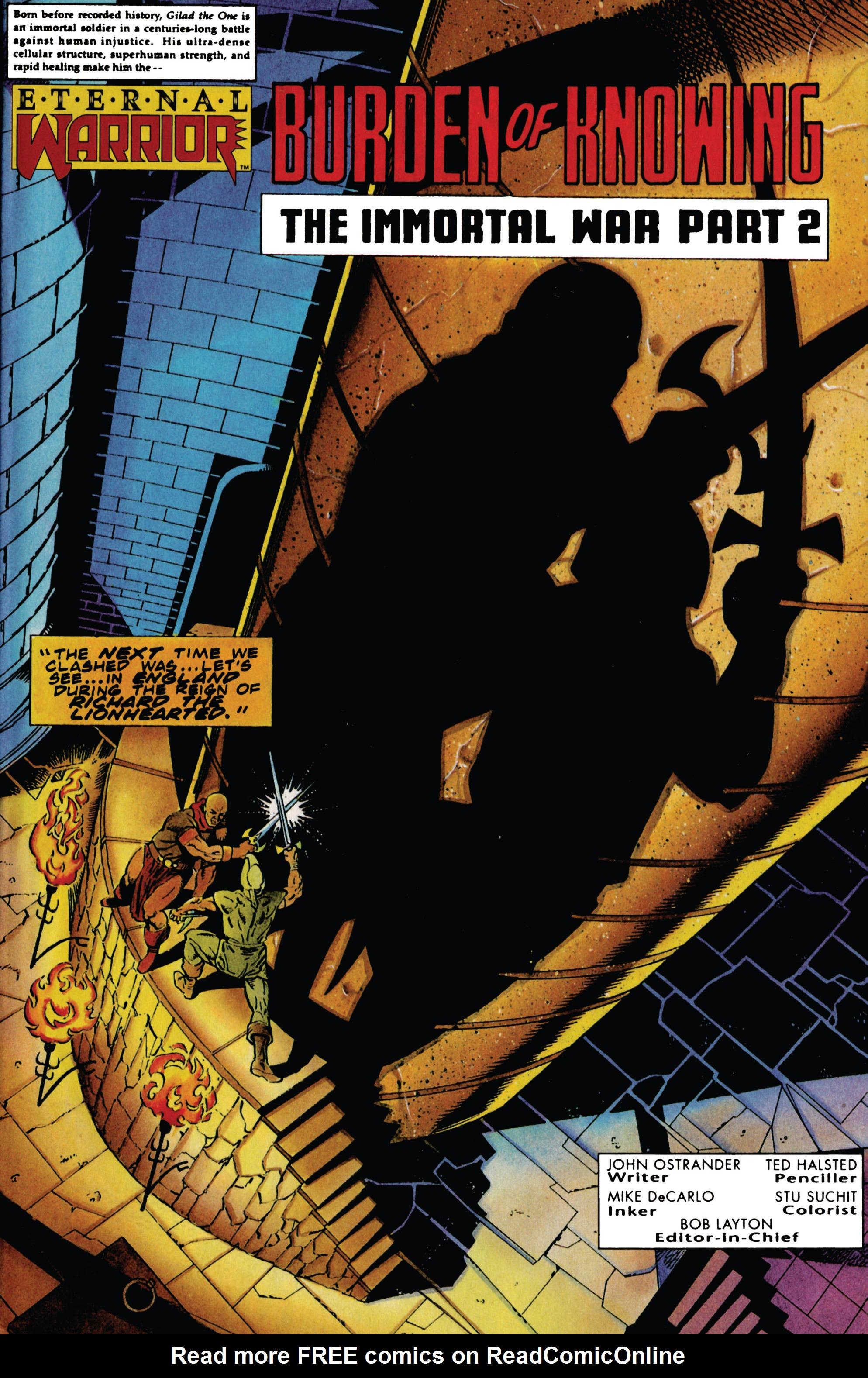 Read online Eternal Warrior (1992) comic -  Issue #29 - 2