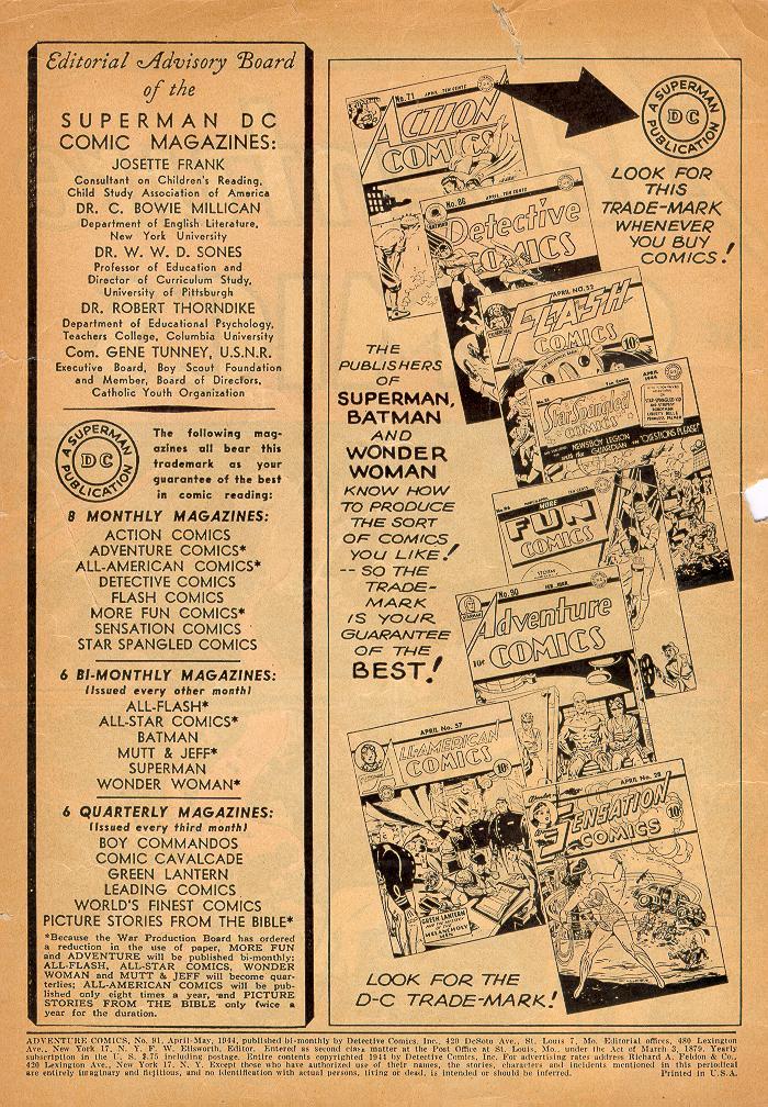 Read online Adventure Comics (1938) comic -  Issue #91 - 2