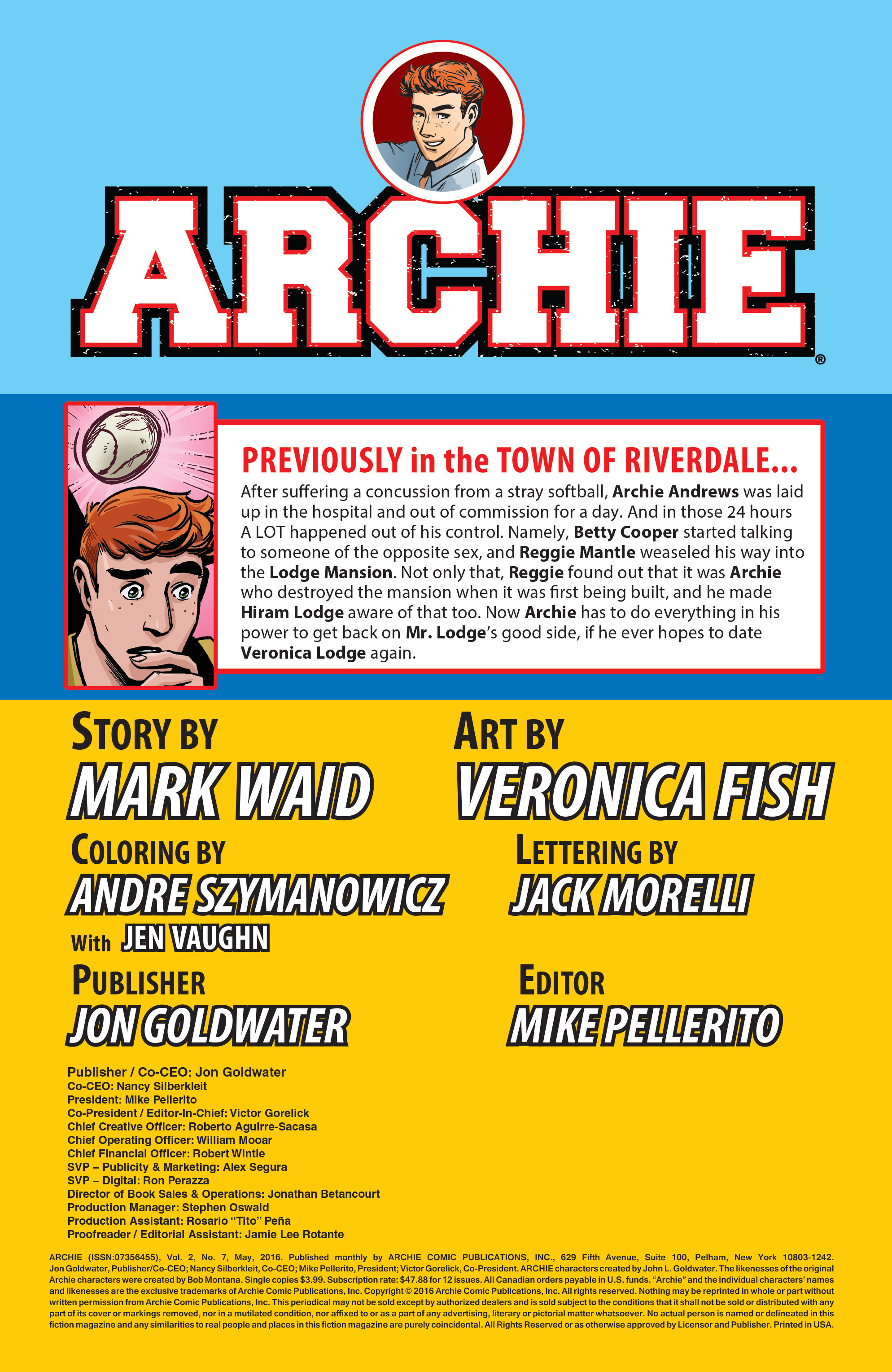 Read online Archie (2015) comic -  Issue #7 - 2