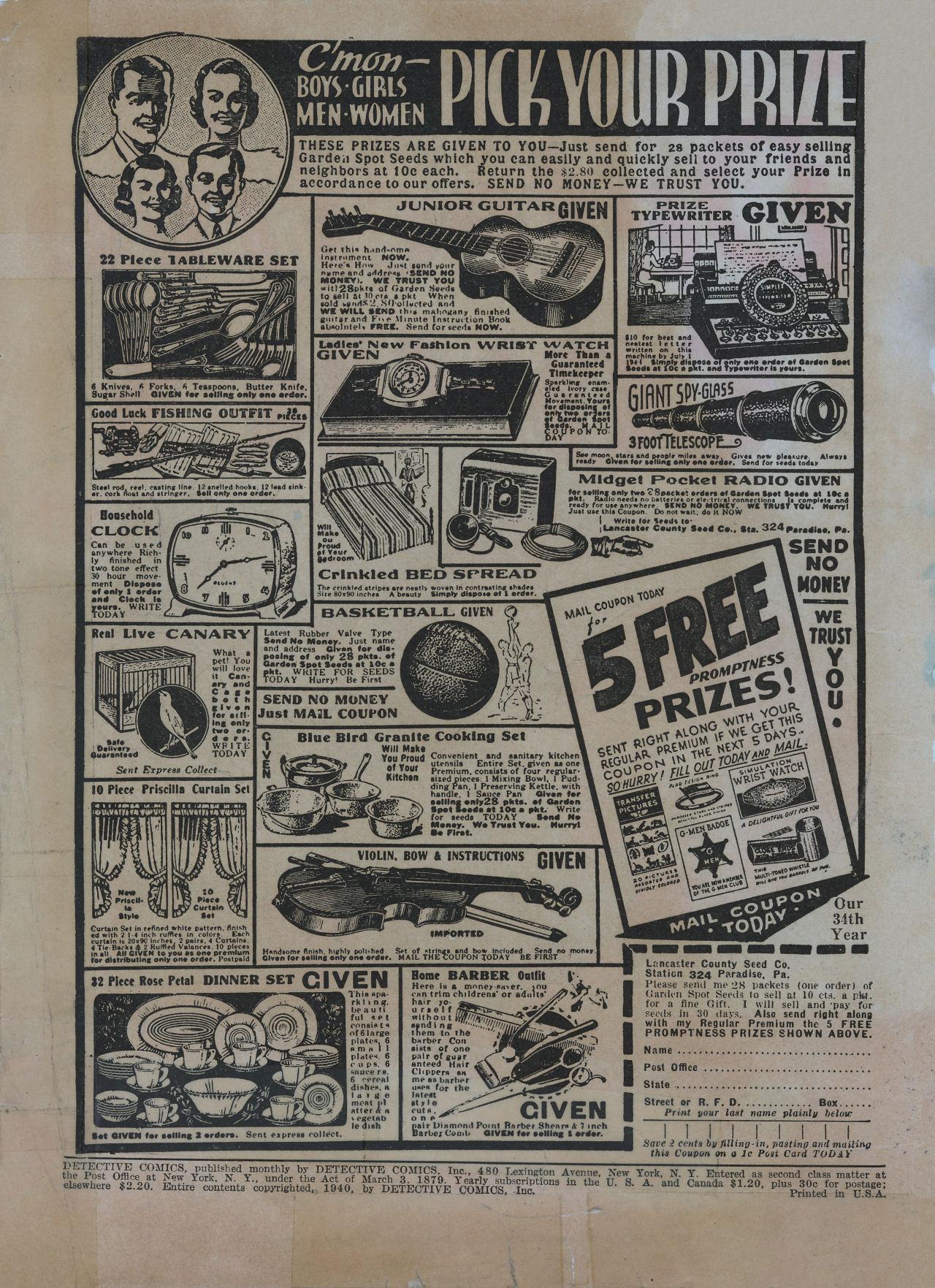 Read online Detective Comics (1937) comic -  Issue #48 - 2