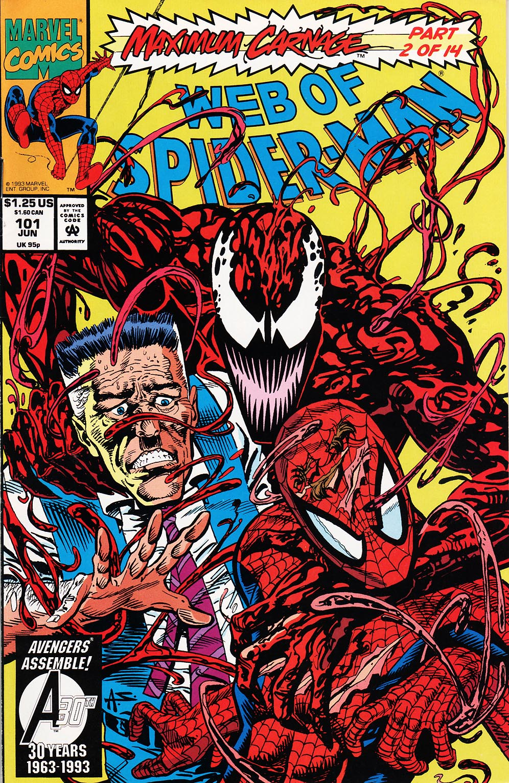 Web of Spider-Man (1985) 101 Page 1