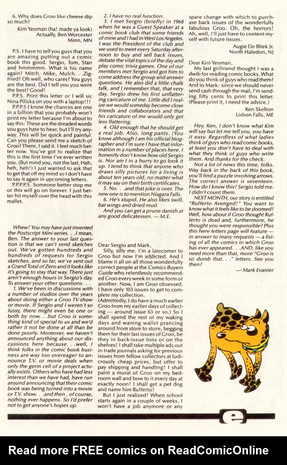 Read online Sergio Aragonés Groo the Wanderer comic -  Issue #111 - 27