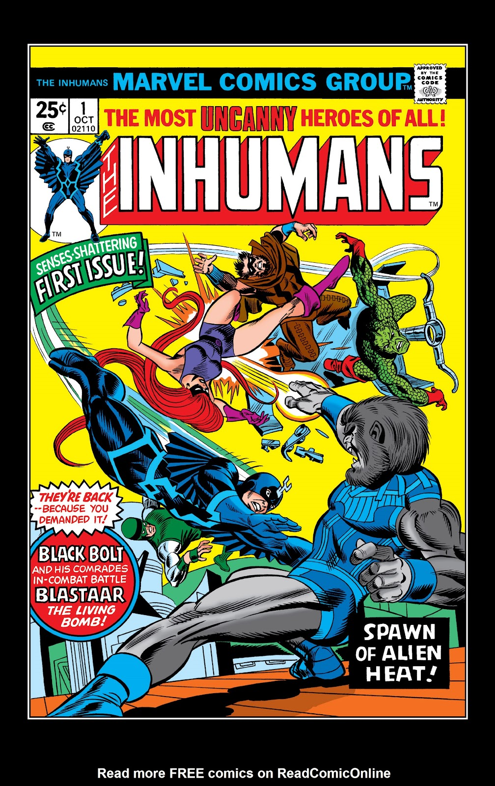 Read online Marvel Masterworks: The Inhumans comic -  Issue # TPB 2 (Part 1) - 6