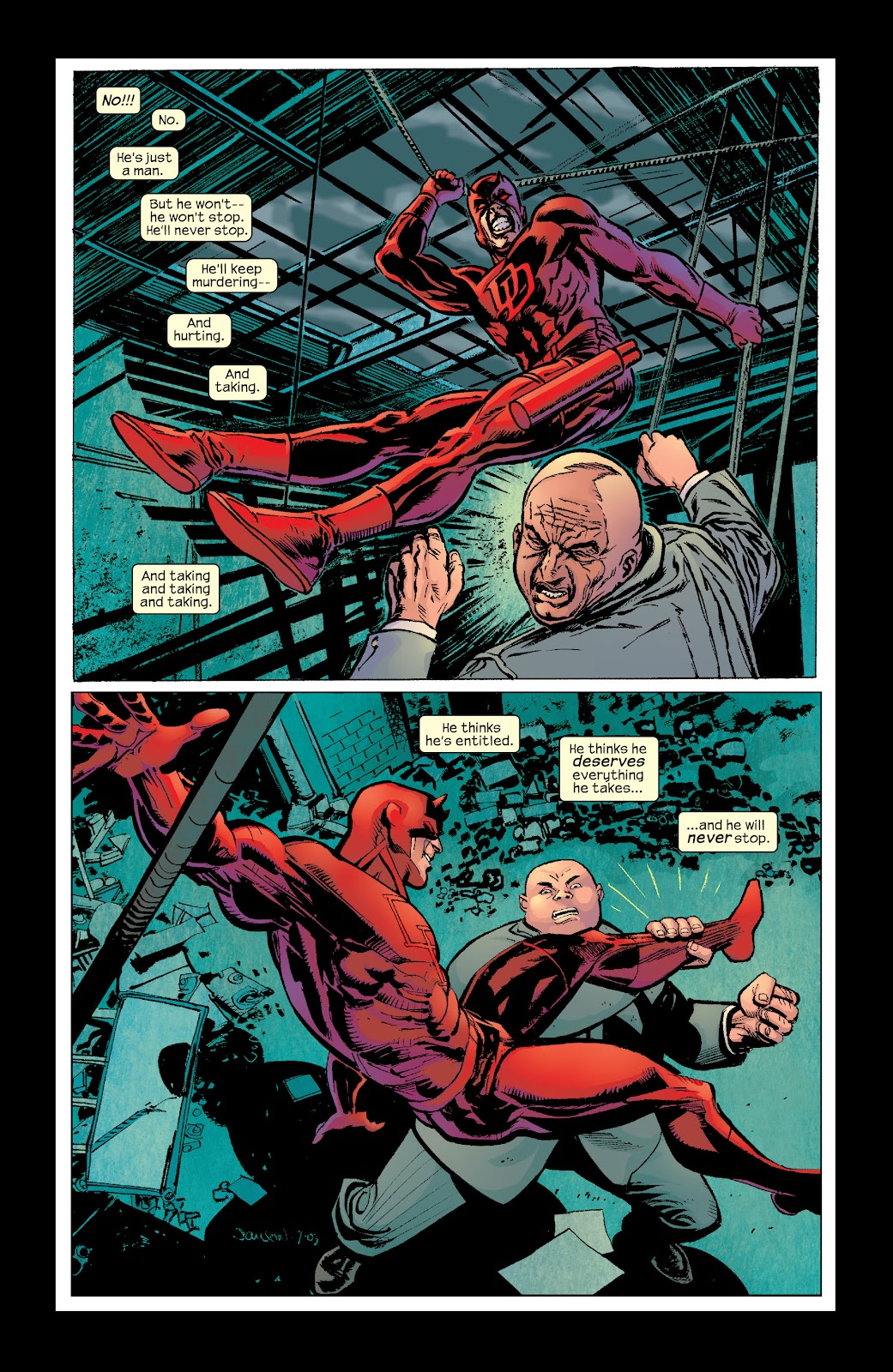 Read online Daredevil (1998) comic -  Issue # _Ultimate_Collection TPB 2 (Part 3) - 20
