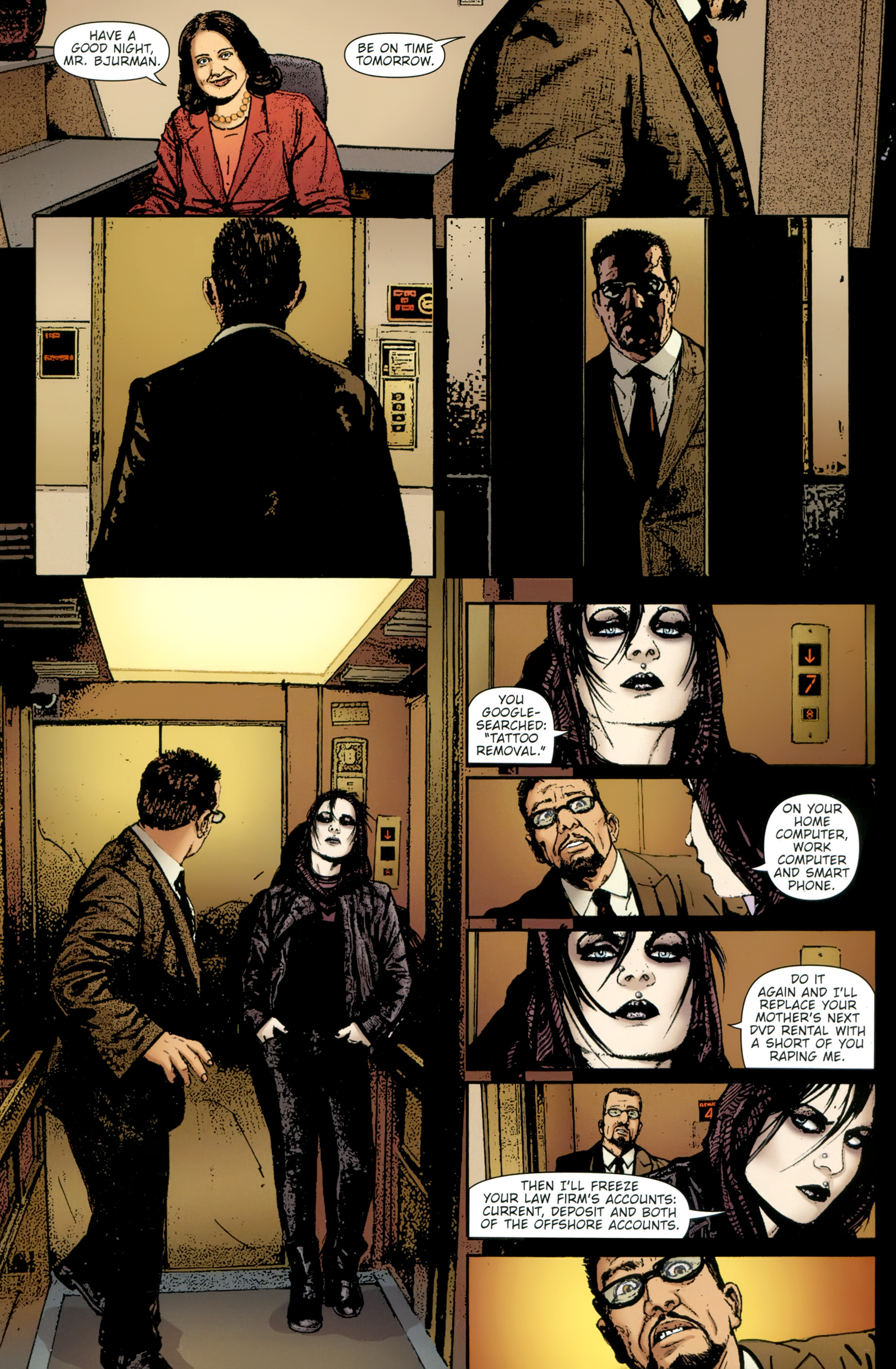 Read online The Girl With the Dragon Tattoo comic -  Issue # TPB 2 - 59