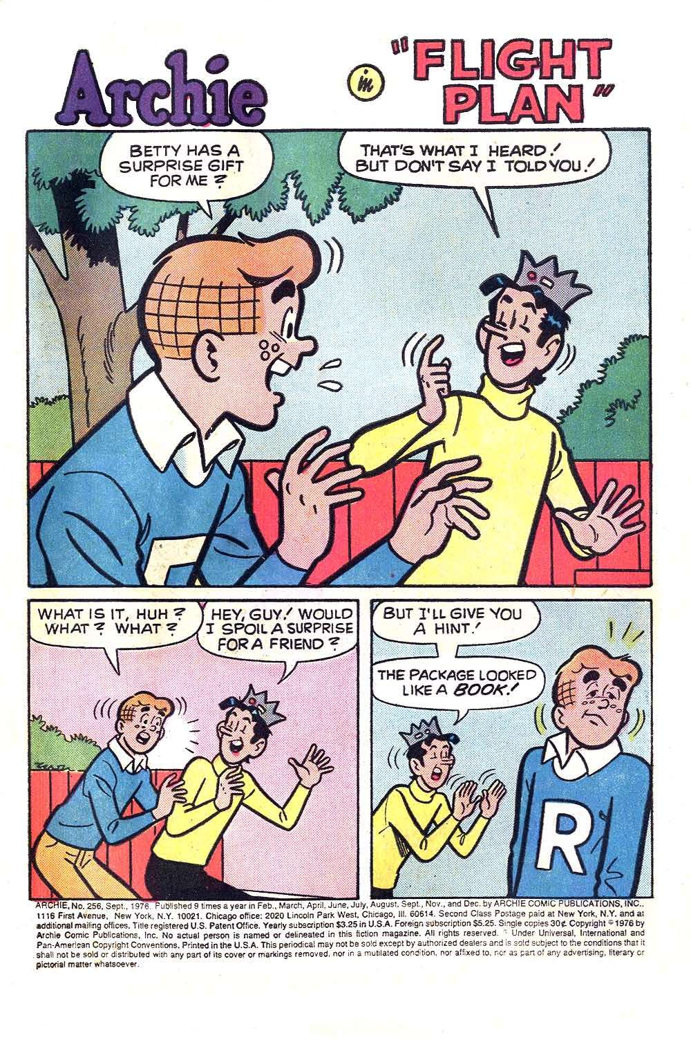 Read online Archie (1960) comic -  Issue #256 - 3