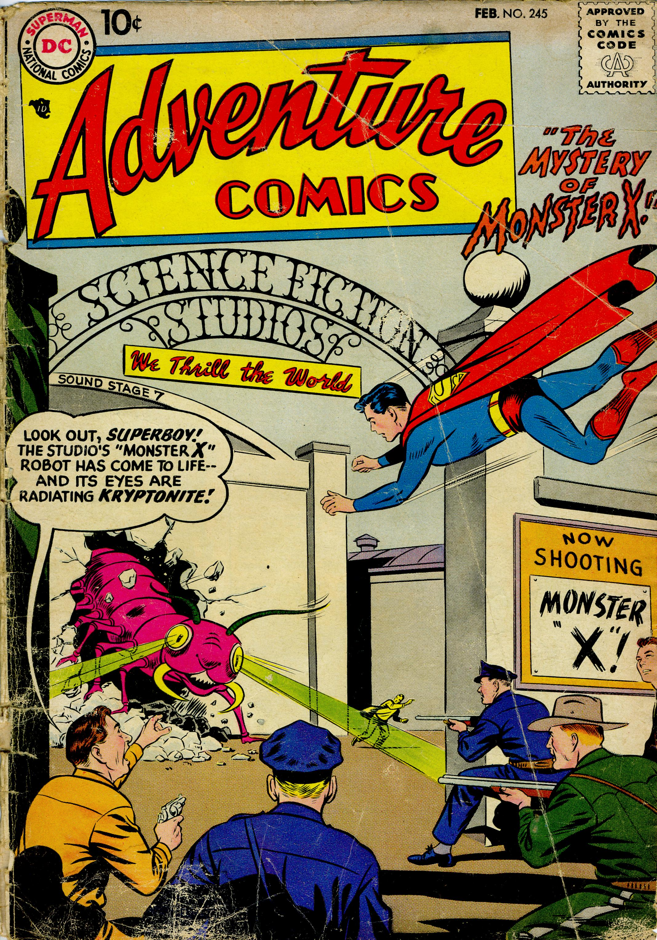 Read online Adventure Comics (1938) comic -  Issue #245 - 1
