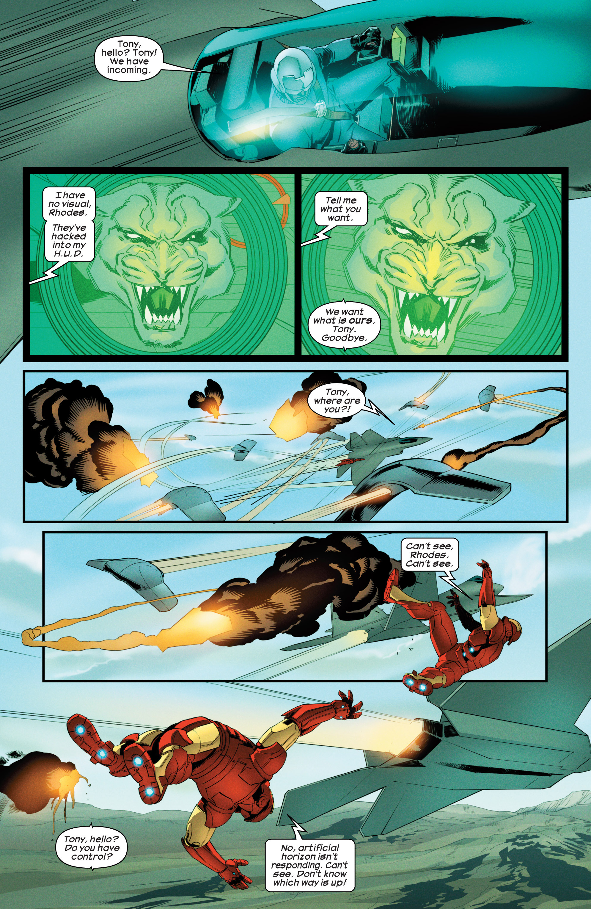 Read online Ultimate Comics Iron Man comic -  Issue #3 - 5