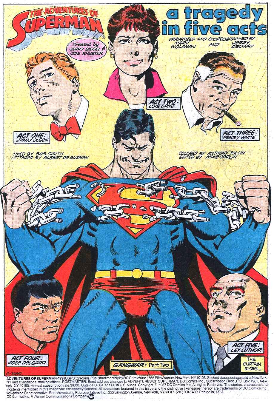 Read online Adventures of Superman (1987) comic -  Issue #433 - 2