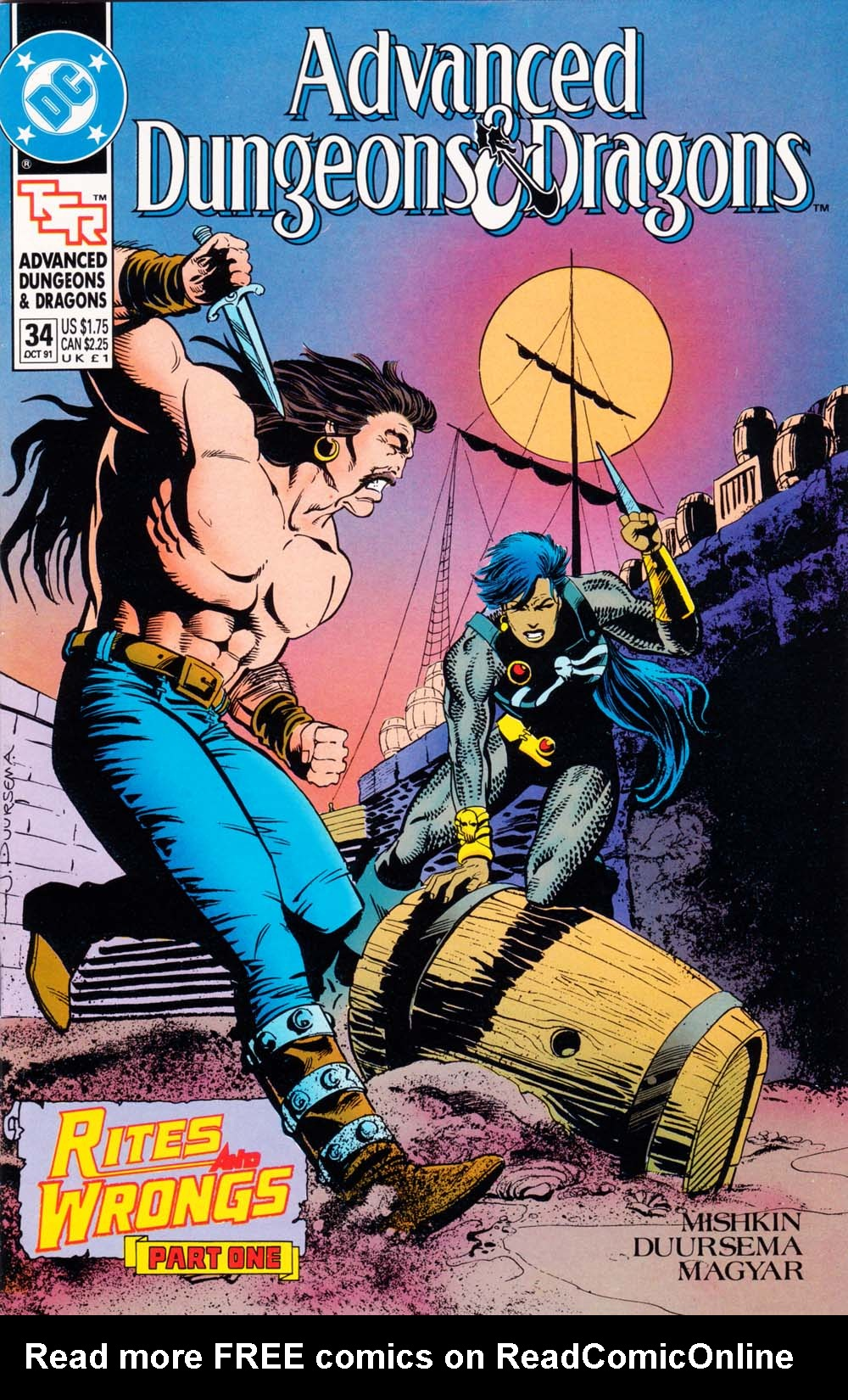 Read online Advanced Dungeons & Dragons comic -  Issue #34 - 1