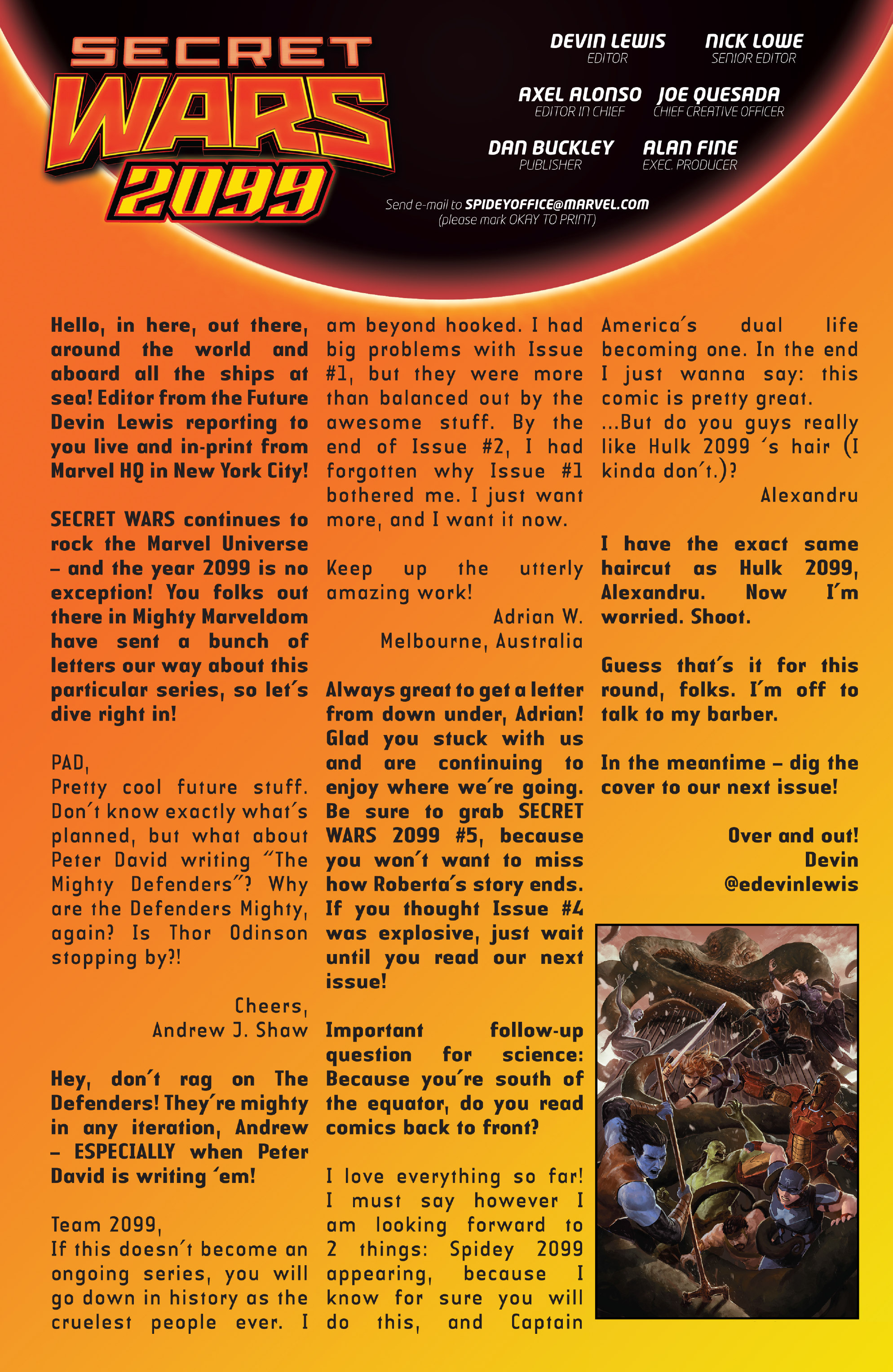 Read online Secret Wars 2099 comic -  Issue #4 - 23