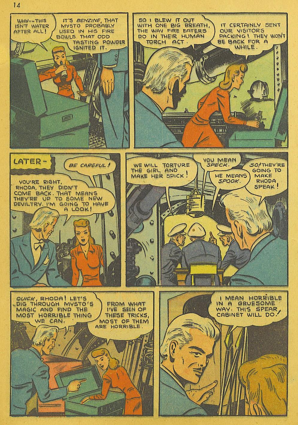 Read online Super-Magician Comics comic -  Issue #10 - 14