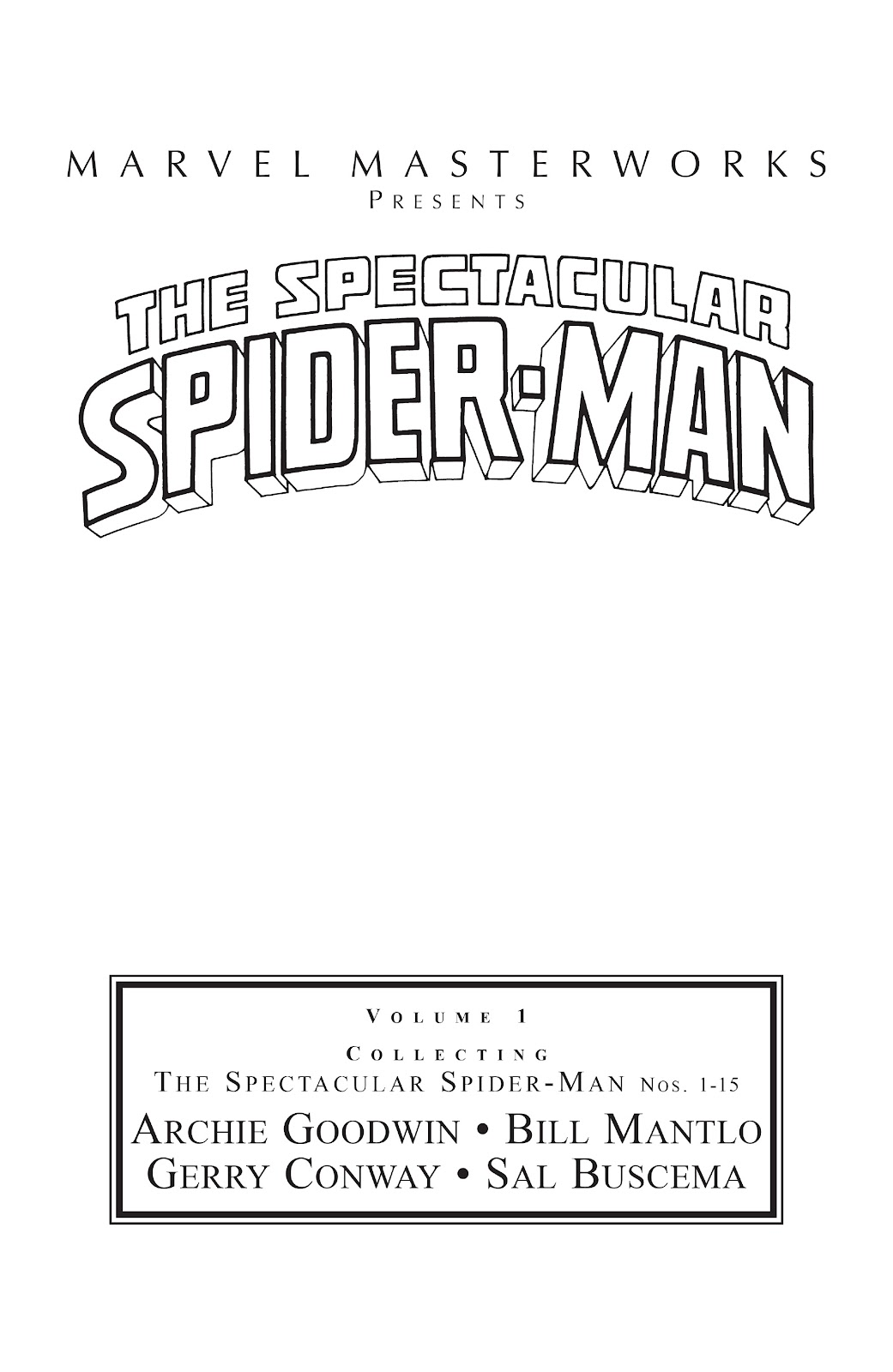 Read online Marvel Masterworks: The Spectacular Spider-Man comic -  Issue # TPB (Part 1) - 2
