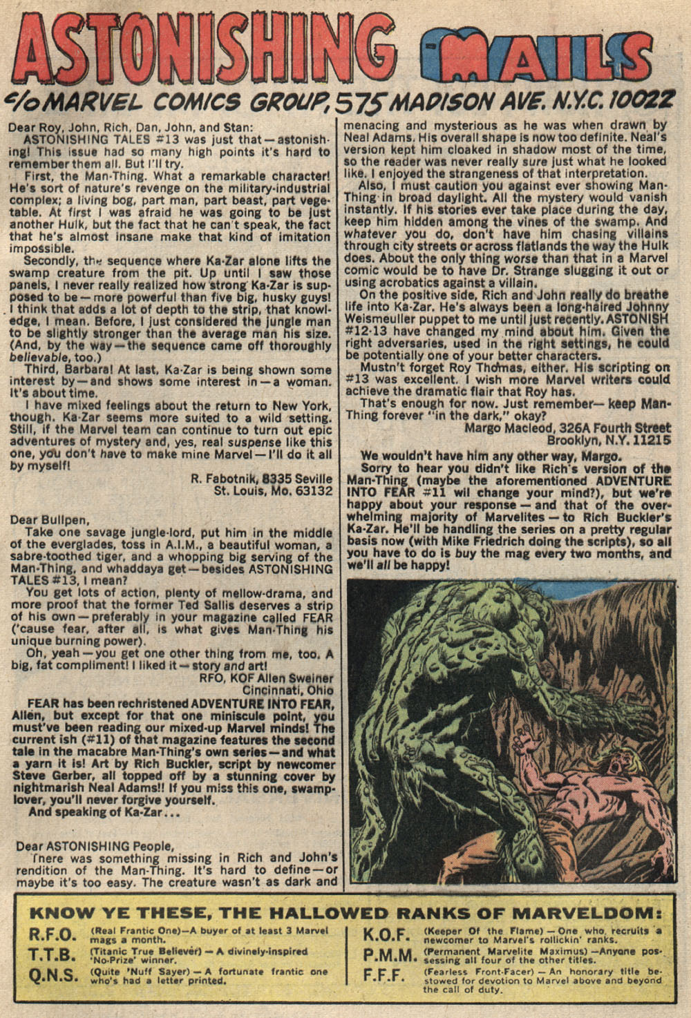 Read online Astonishing Tales (1970) comic -  Issue #15 - 22