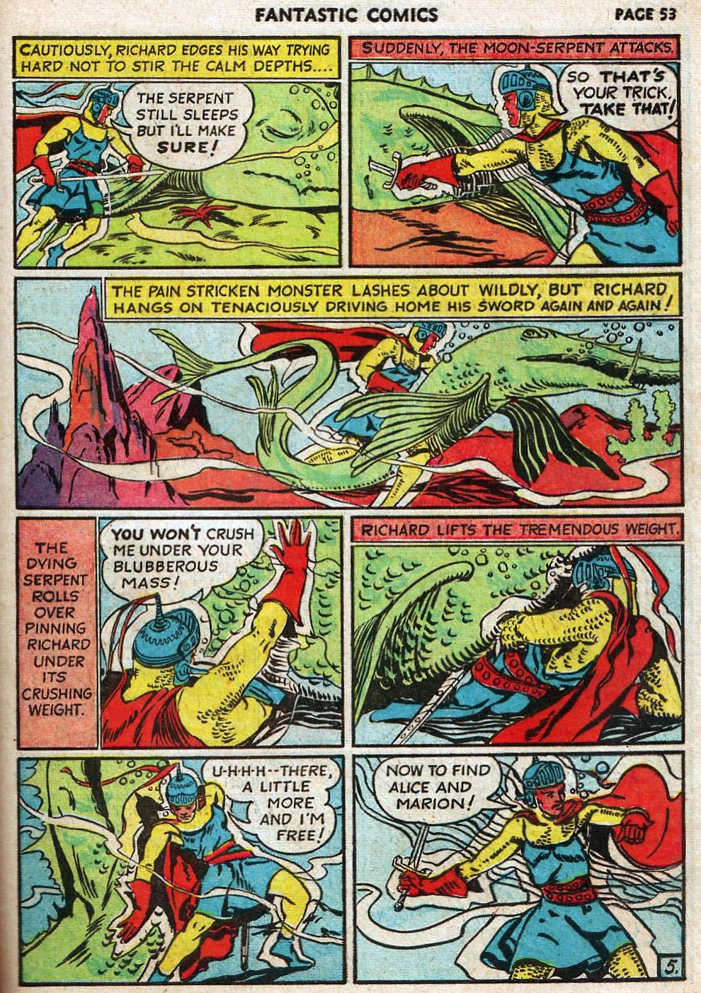 Read online Fantastic Comics comic -  Issue #17 - 54