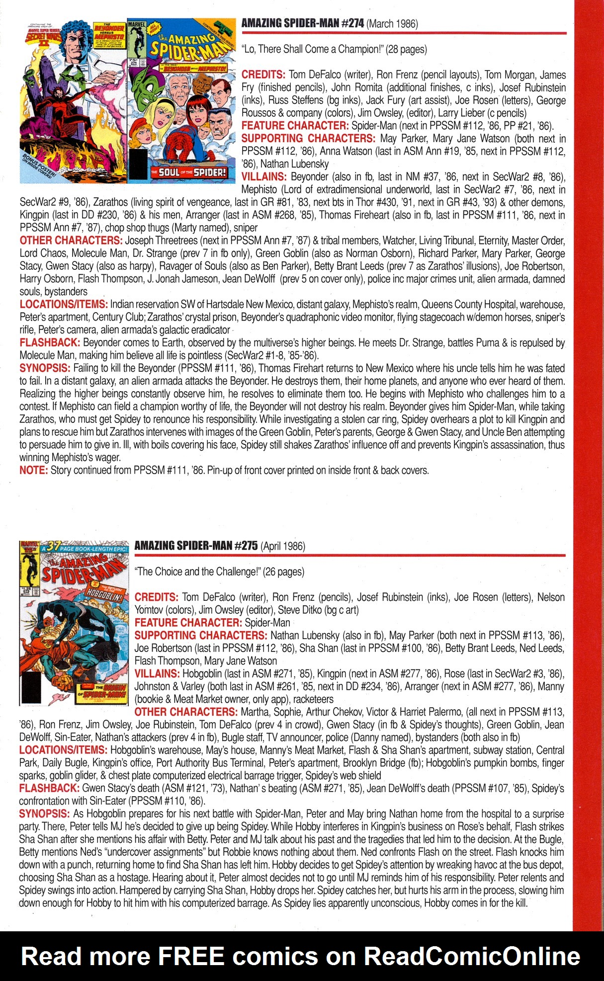 Read online Official Index to the Marvel Universe comic -  Issue #6 - 17
