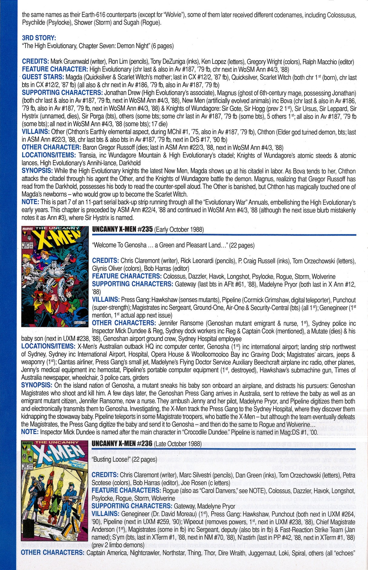 Read online Official Index to the Marvel Universe comic -  Issue #6 - 48