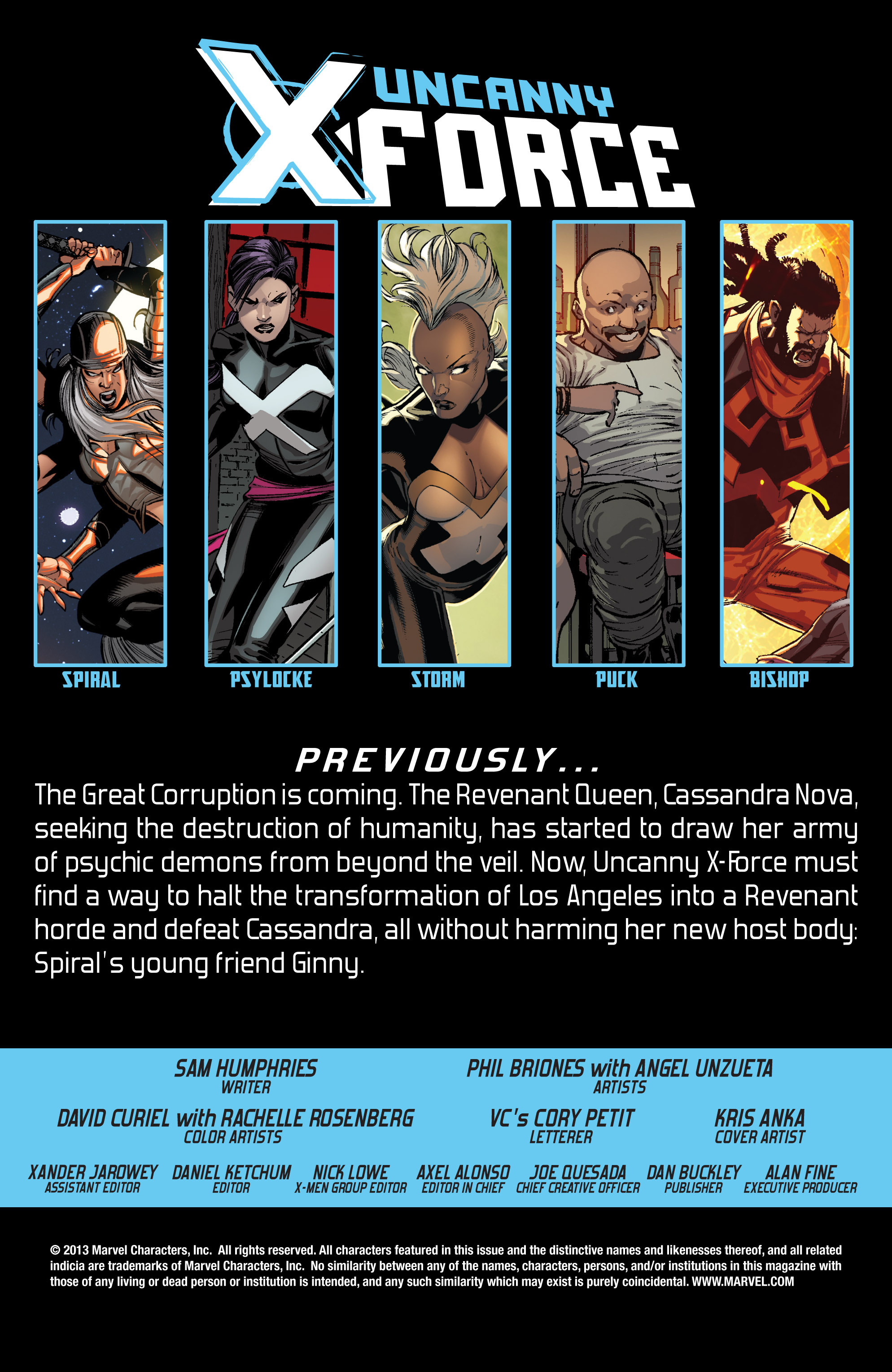 Read online Uncanny X-Force (2013) comic -  Issue #13 - 2