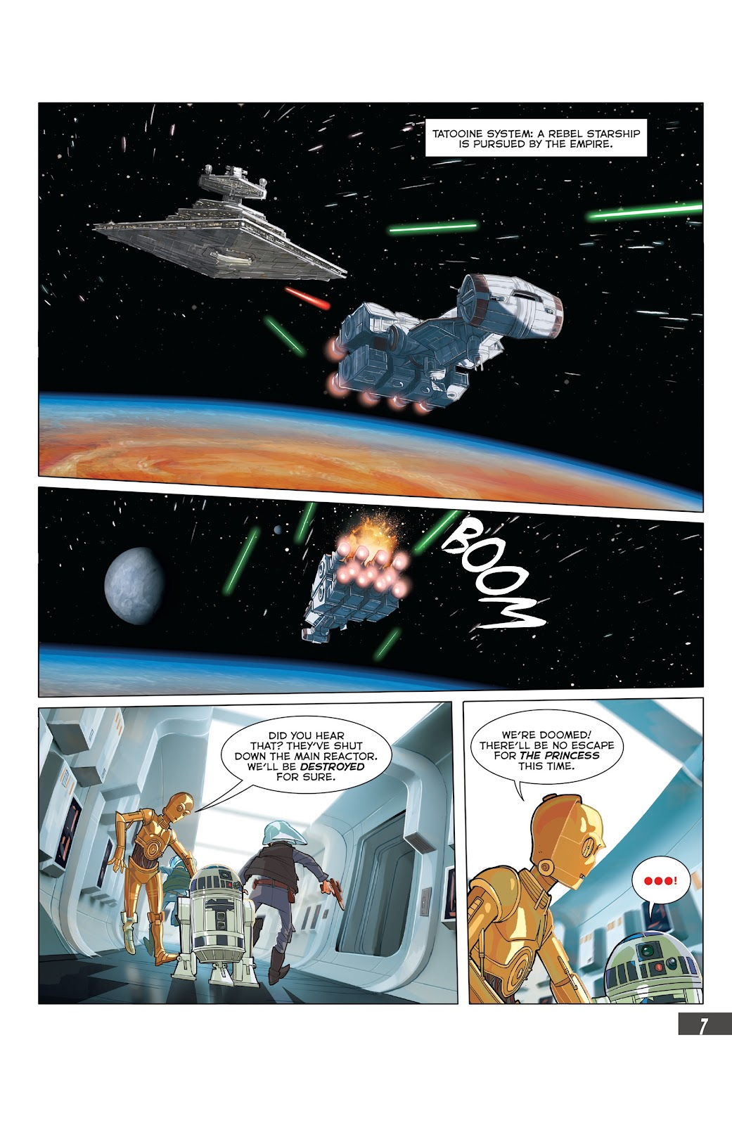 Read online Star Wars Adventures: Flight of the Falcon comic -  Issue # Full - 31