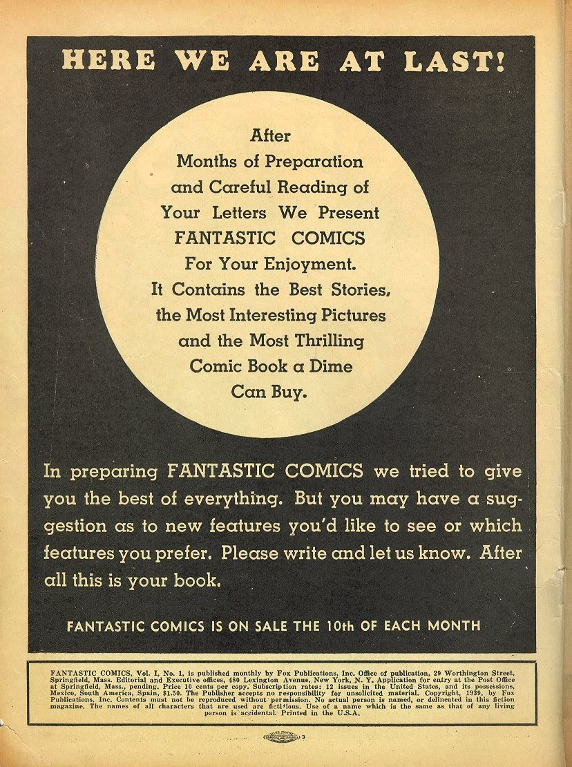 Read online Fantastic Comics comic -  Issue #1 - 3