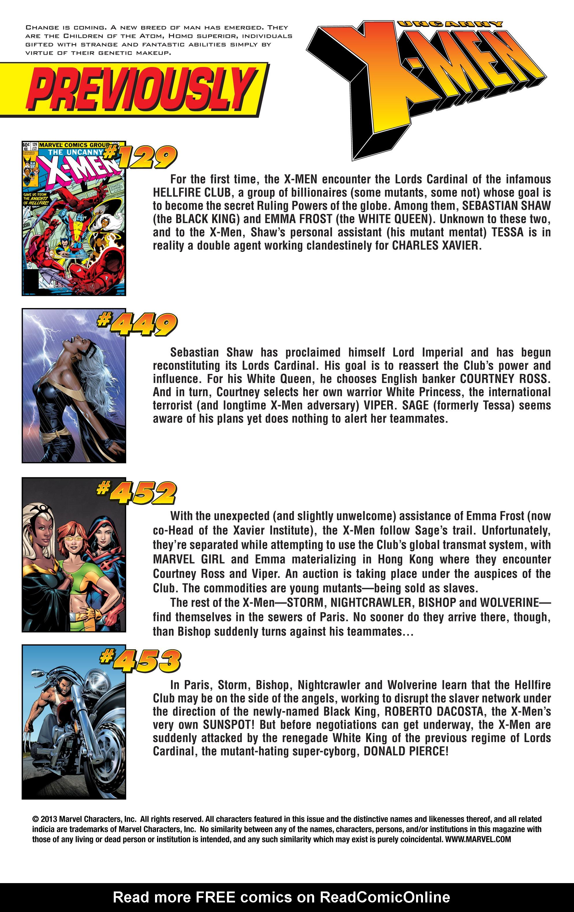 Read online Uncanny X-Men (1963) comic -  Issue #454 - 2