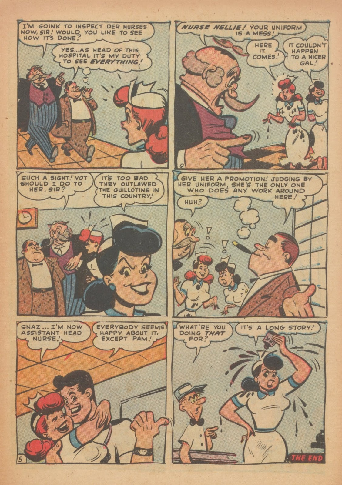 Read online Nellie The Nurse (1945) comic -  Issue #33 - 7