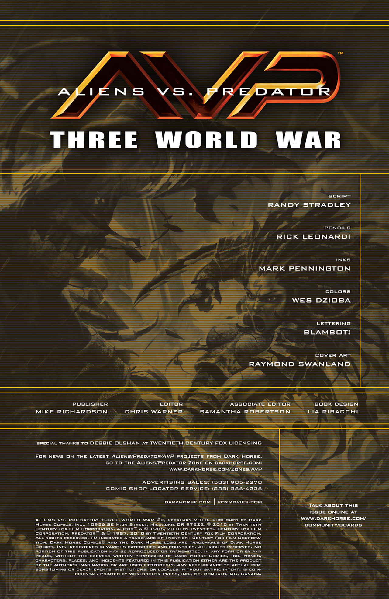 Read online Aliens vs. Predator: Three World War comic -  Issue #2 - 2