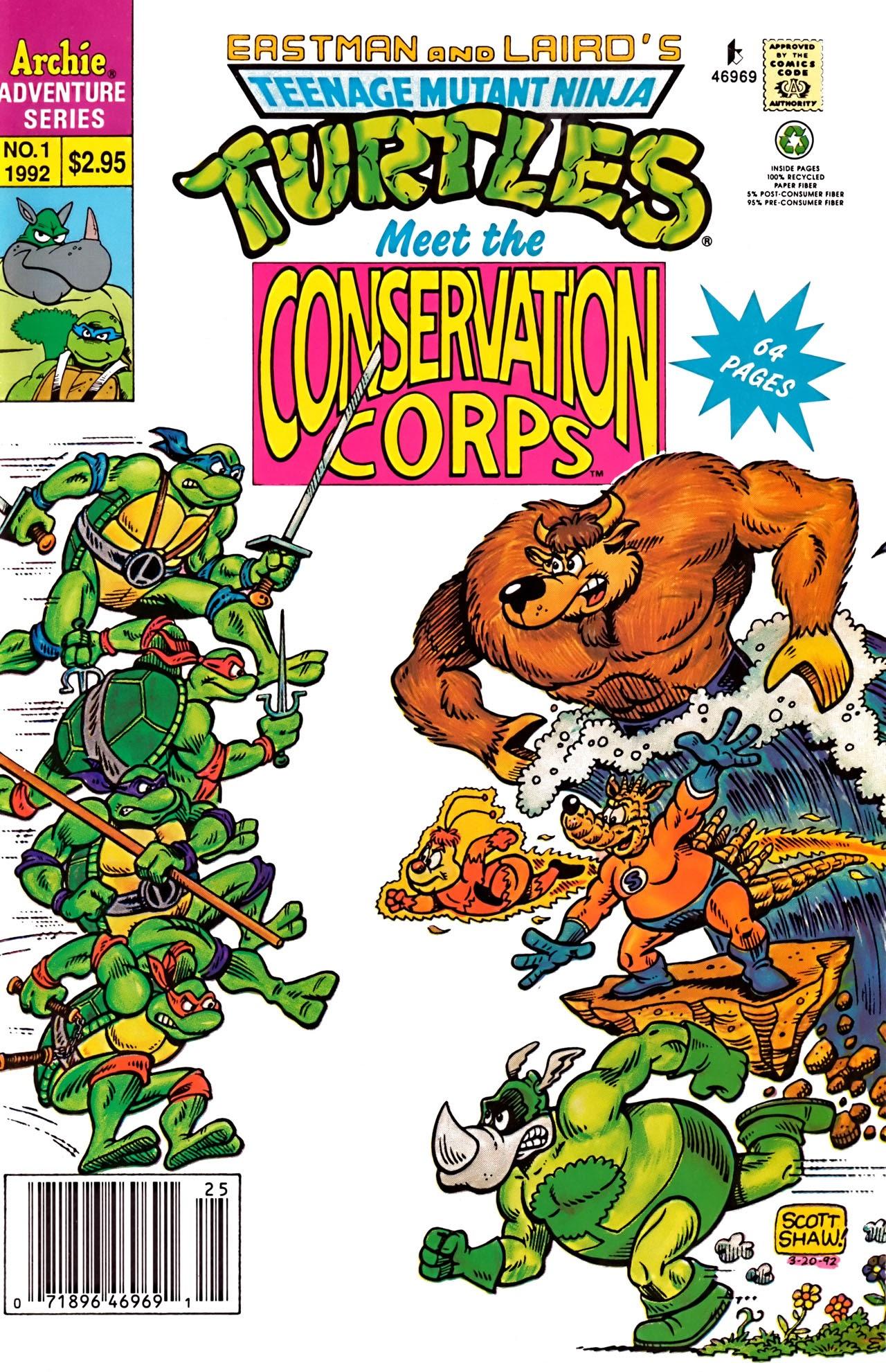 Teenage Mutant Ninja Turtles Meet The Conservation Corps Full Page 1