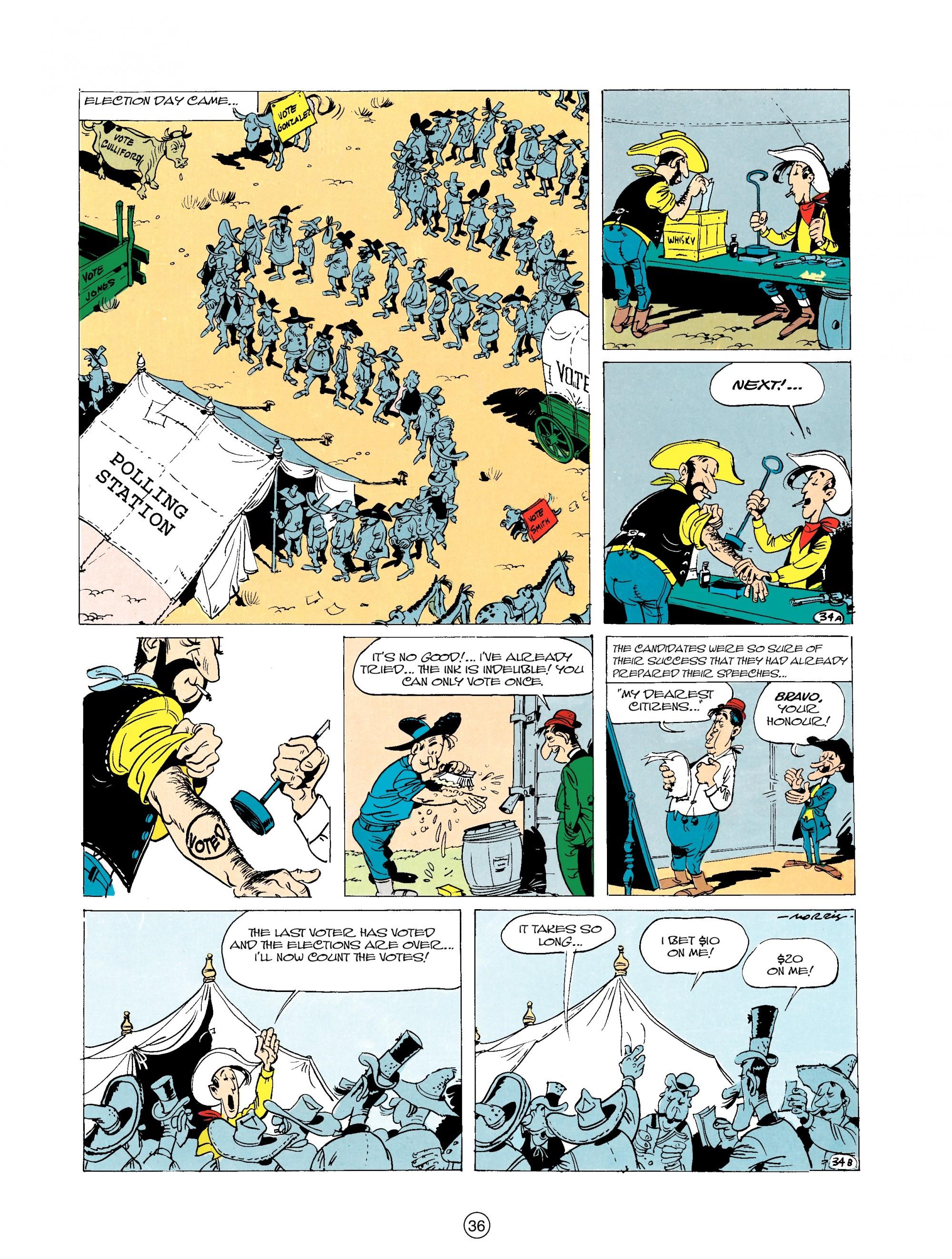 Read online A Lucky Luke Adventure comic -  Issue #20 - 36