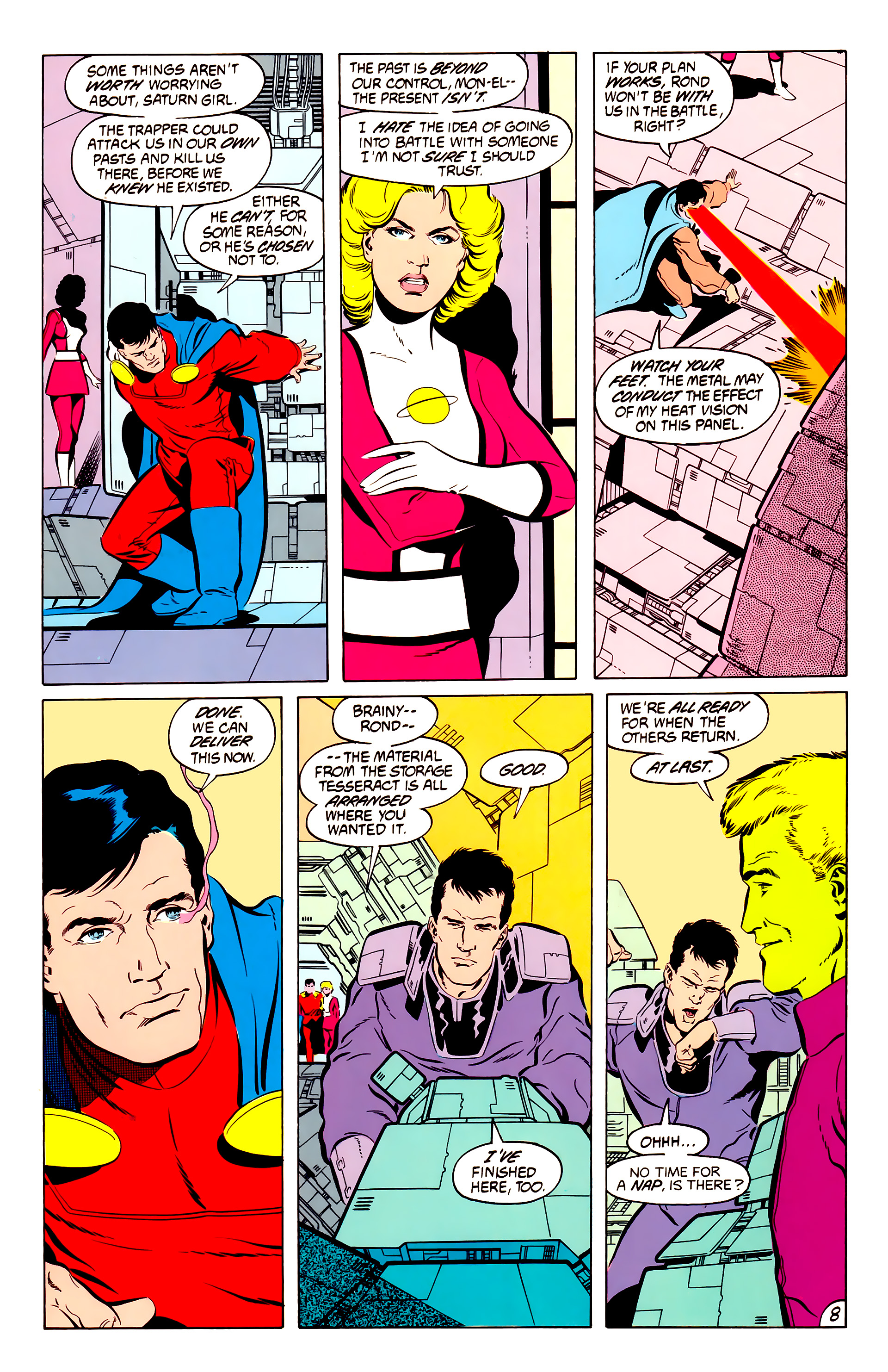 Legion of Super-Heroes (1984) 50 Page 8
